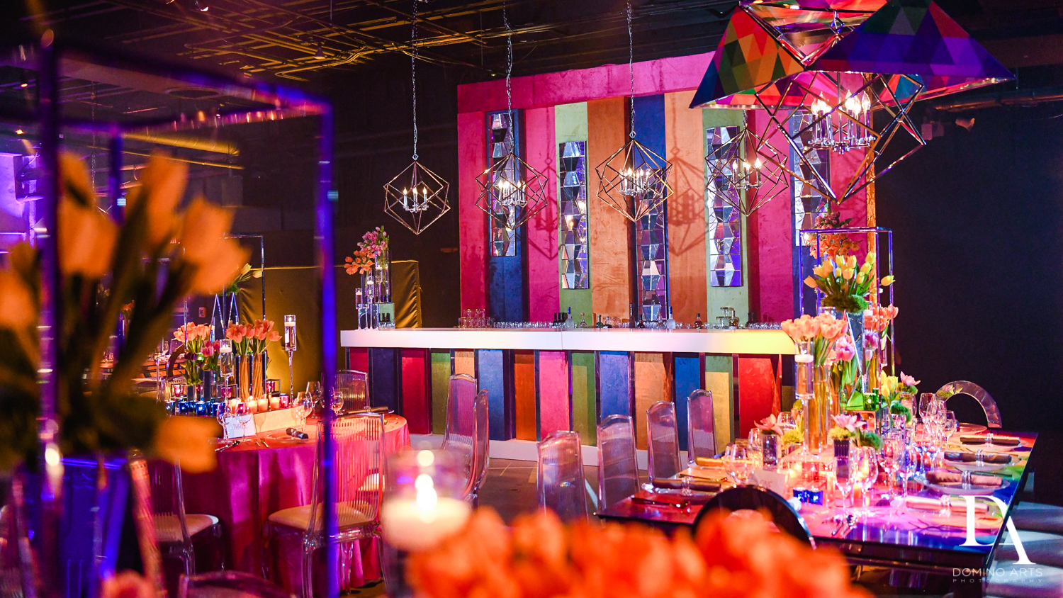 custom bar at Colorful B'Not Mitzvah at Gallery of Amazing Things by Domino Arts Photography