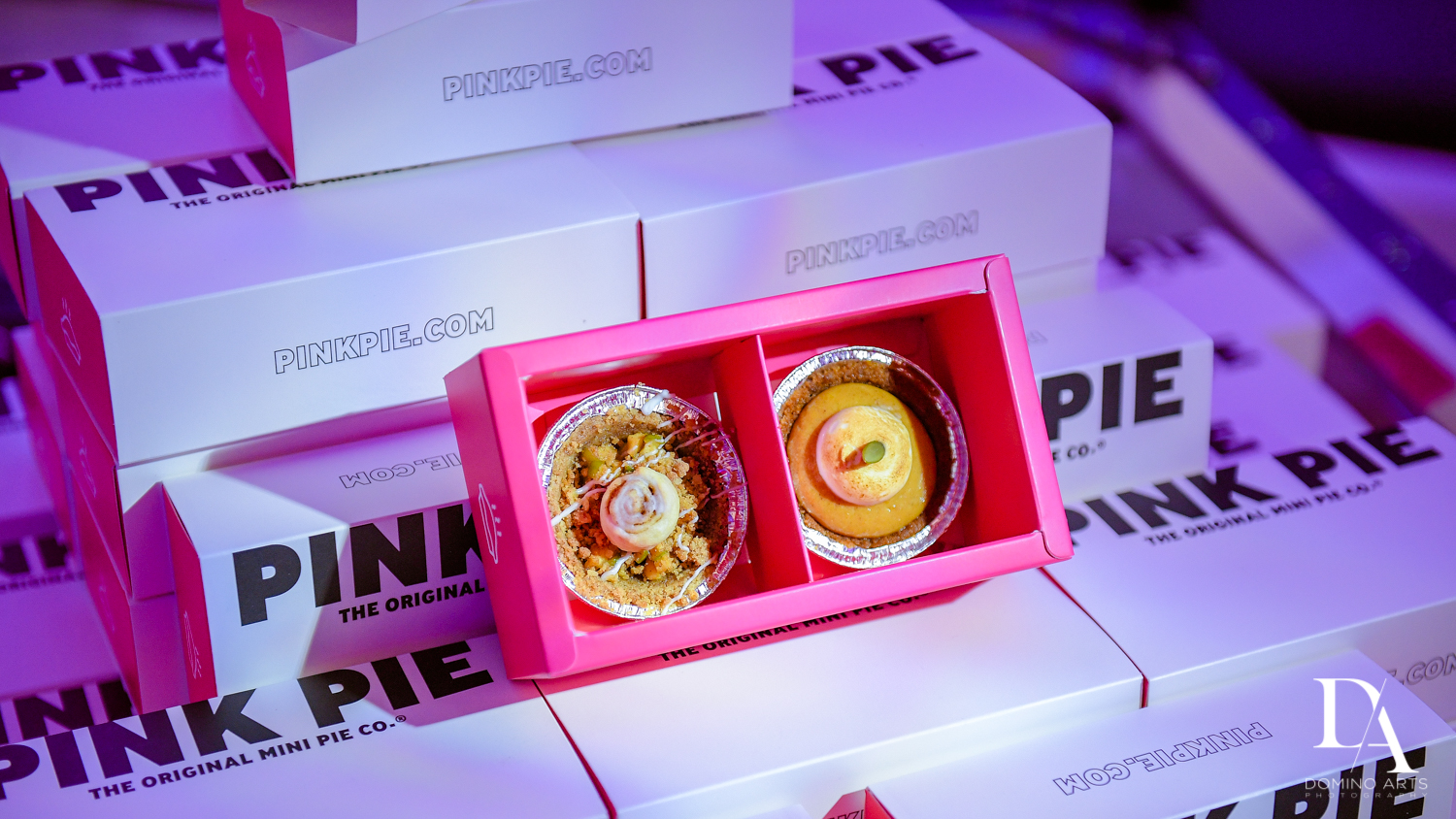 Pink Pie at Colorful B'Not Mitzvah at Gallery of Amazing Things by Domino Arts Photography