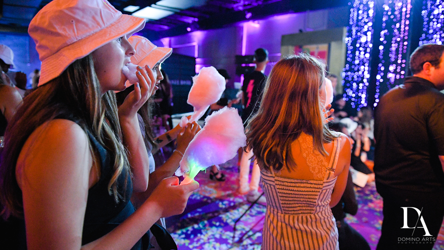 neon cotton candy at Colorful B'Not Mitzvah at Gallery of Amazing Things by Domino Arts Photography
