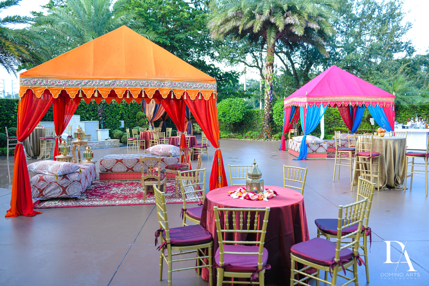 colorful decor at Authentic Morrocan Jewish Henna Party by Domino Arts Photography