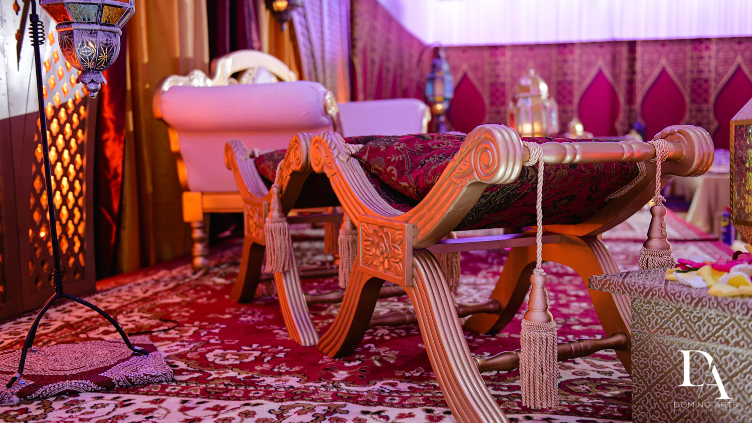 details and furniture at Authentic Morrocan Jewish Henna Party by Domino Arts Photography