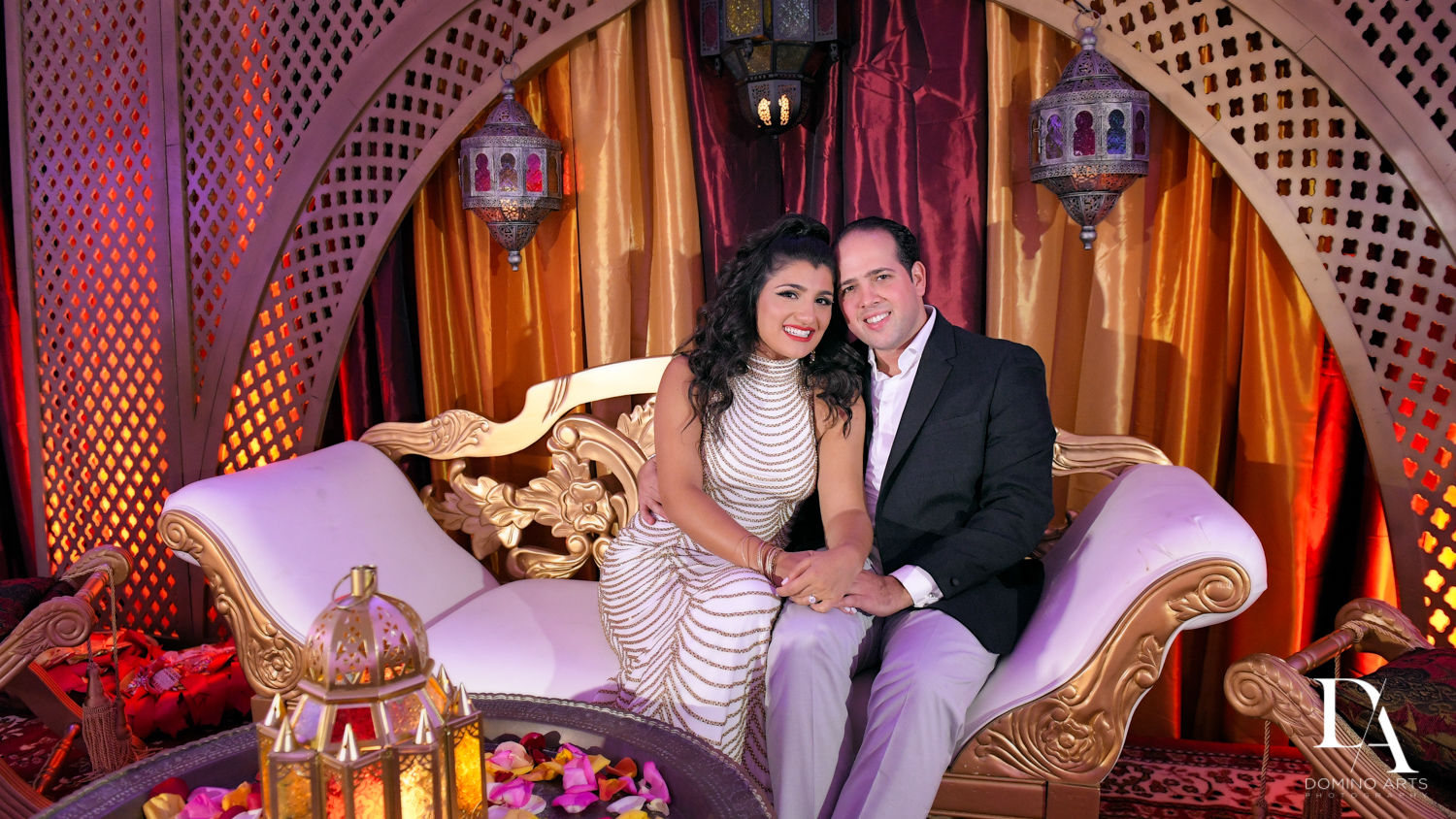 romantic couple at Authentic Morrocan Jewish Henna Party by Domino Arts Photography
