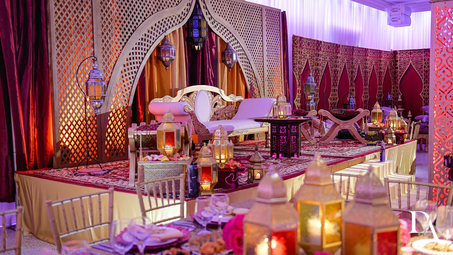 morrocan decor at Authentic Morrocan Jewish Henna Party by Domino Arts Photography