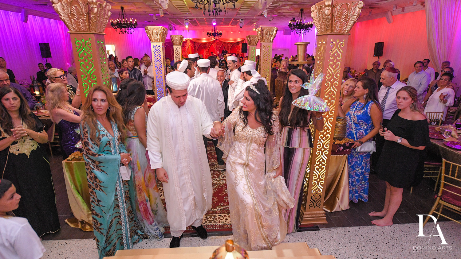 wedding ceremony at Authentic Morrocan Jewish Henna Party by Domino Arts Photography