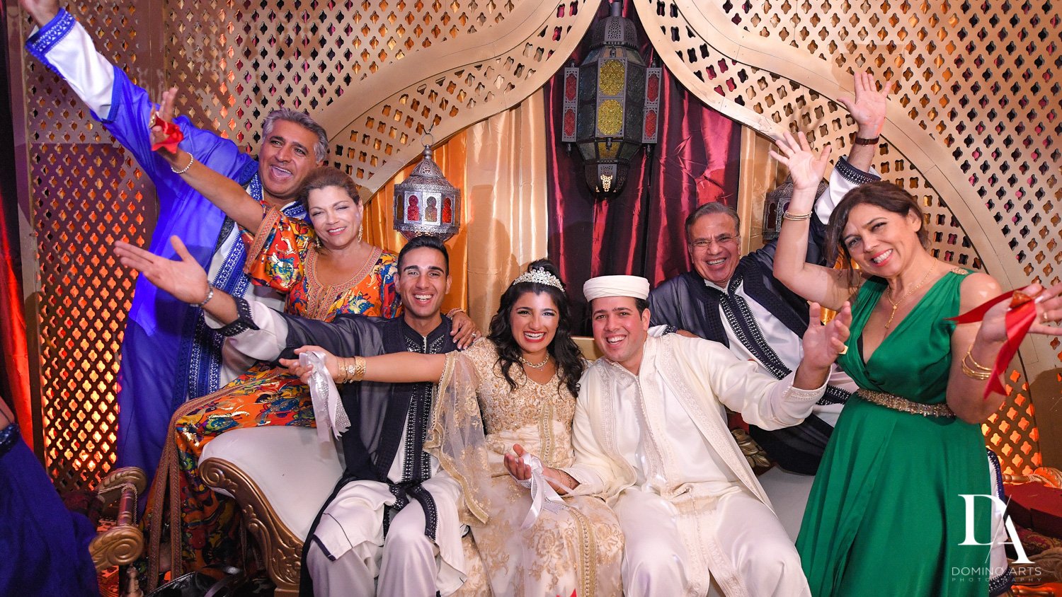 family portrait at Authentic Morrocan Jewish Henna Party by Domino Arts Photography