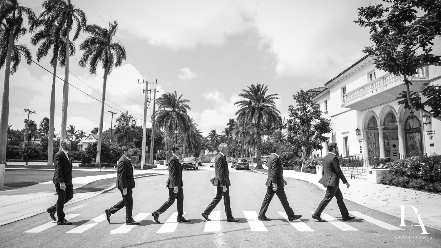 beatles walking street pic at Vintage Garden Wedding at Flagler Museum Palm Beach by Domino Arts Photography