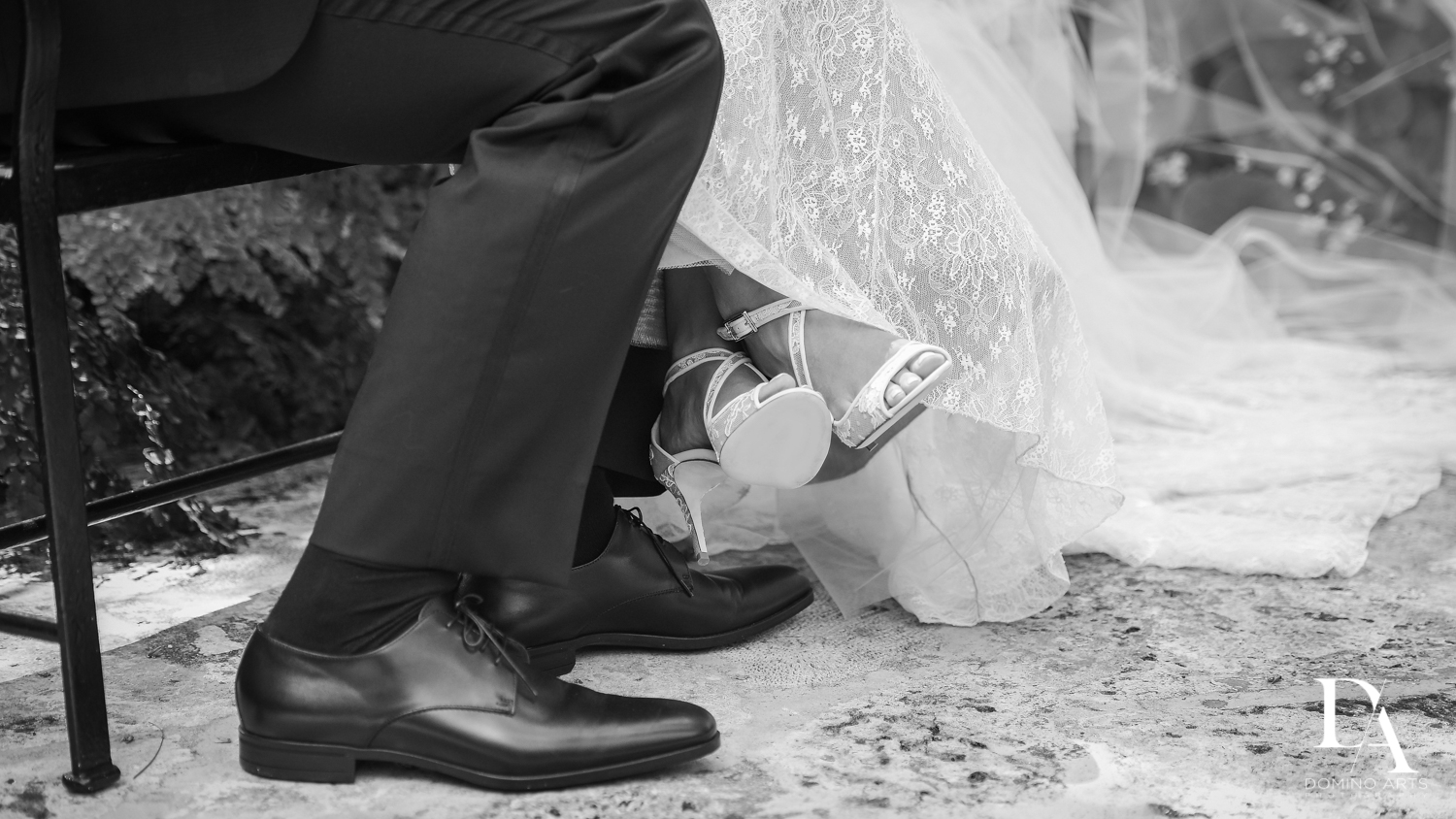 B&W photojournalism at Vintage Garden Wedding at Flagler Museum Palm Beach by Domino Arts Photography