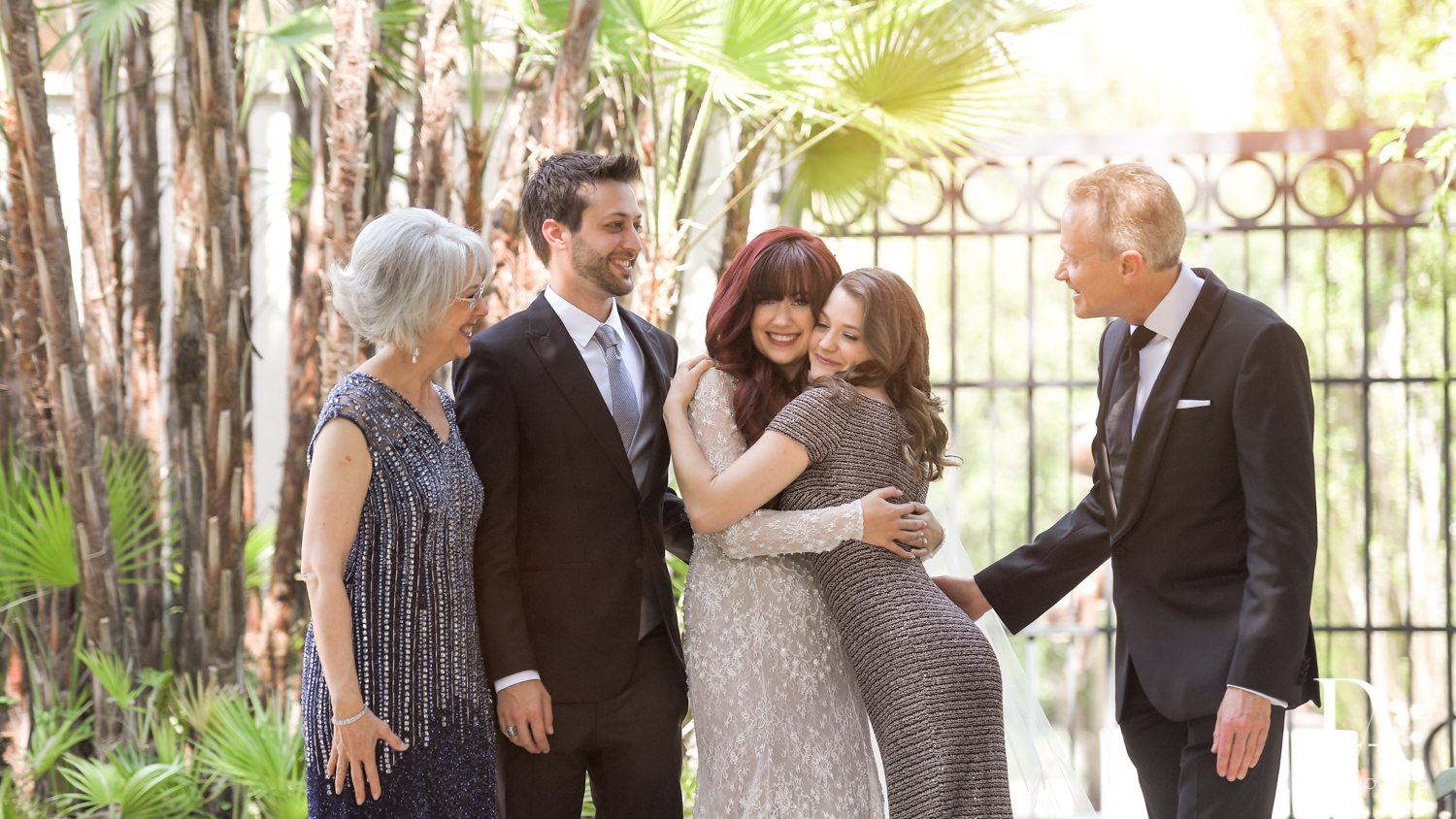 fun family pics at Vintage Garden Wedding at Flagler Museum Palm Beach by Domino Arts Photography