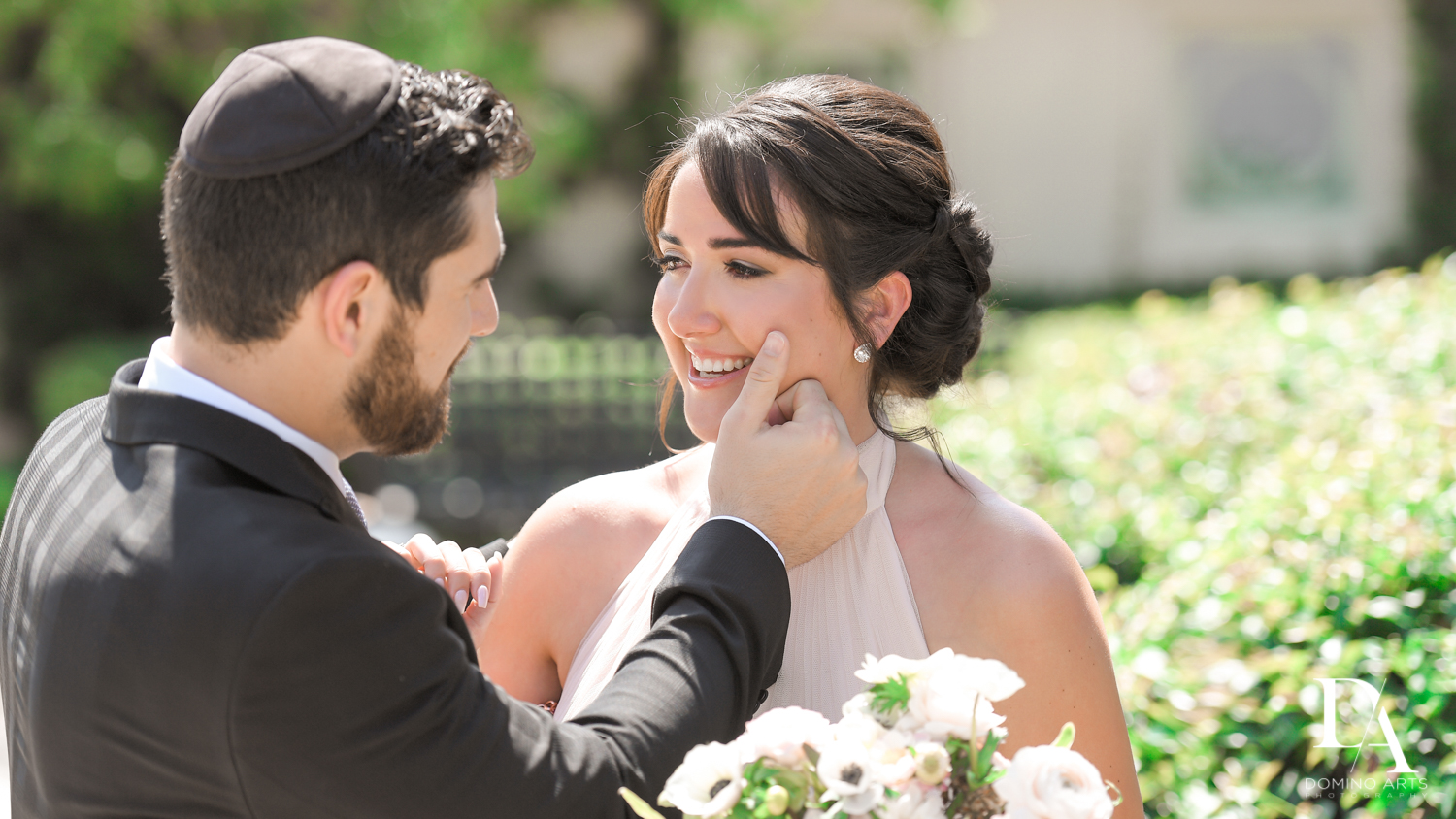 siblings at Vintage Garden Wedding at Flagler Museum Palm Beach by Domino Arts Photography