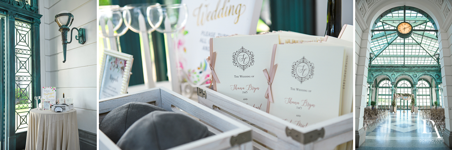 ceremony details at Vintage Garden Wedding at Flagler Museum Palm Beach by Domino Arts Photography