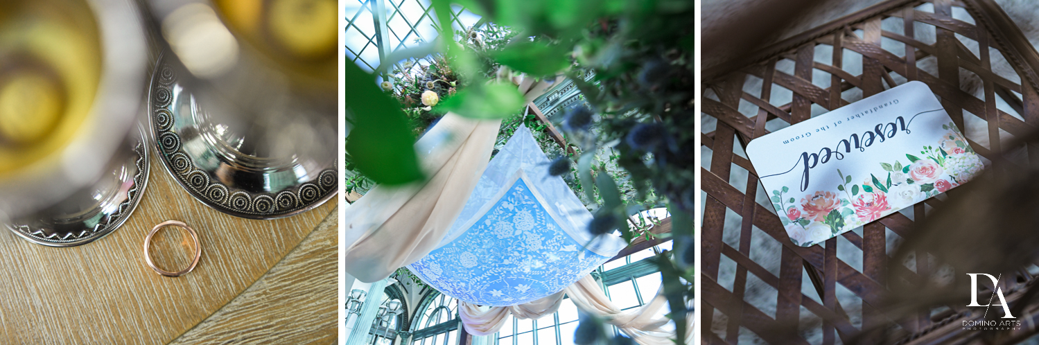 jewish details at Vintage Garden Wedding at Flagler Museum Palm Beach by Domino Arts Photography
