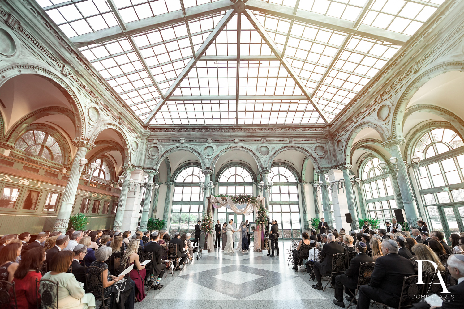 best venue at Vintage Garden Wedding at Flagler Museum Palm Beach by Domino Arts Photography