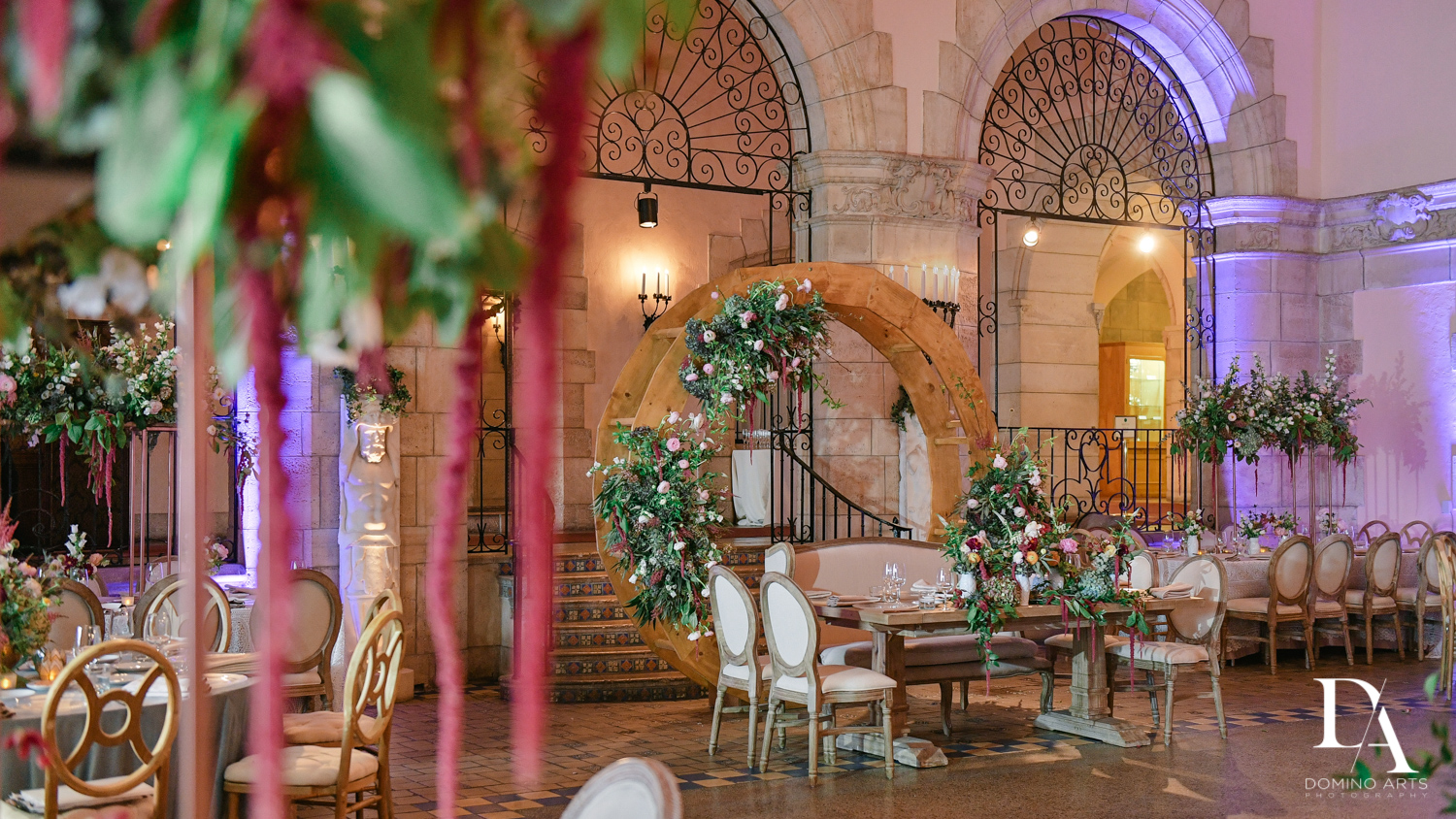 unique flowers at Vintage Garden Wedding at Flagler Museum Palm Beach by Domino Arts Photography