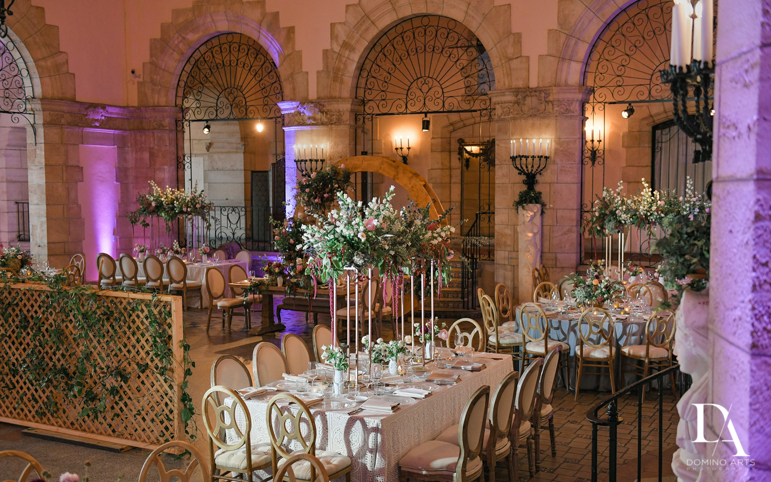 room photos at Vintage Garden Wedding at Flagler Museum Palm Beach by Domino Arts Photography