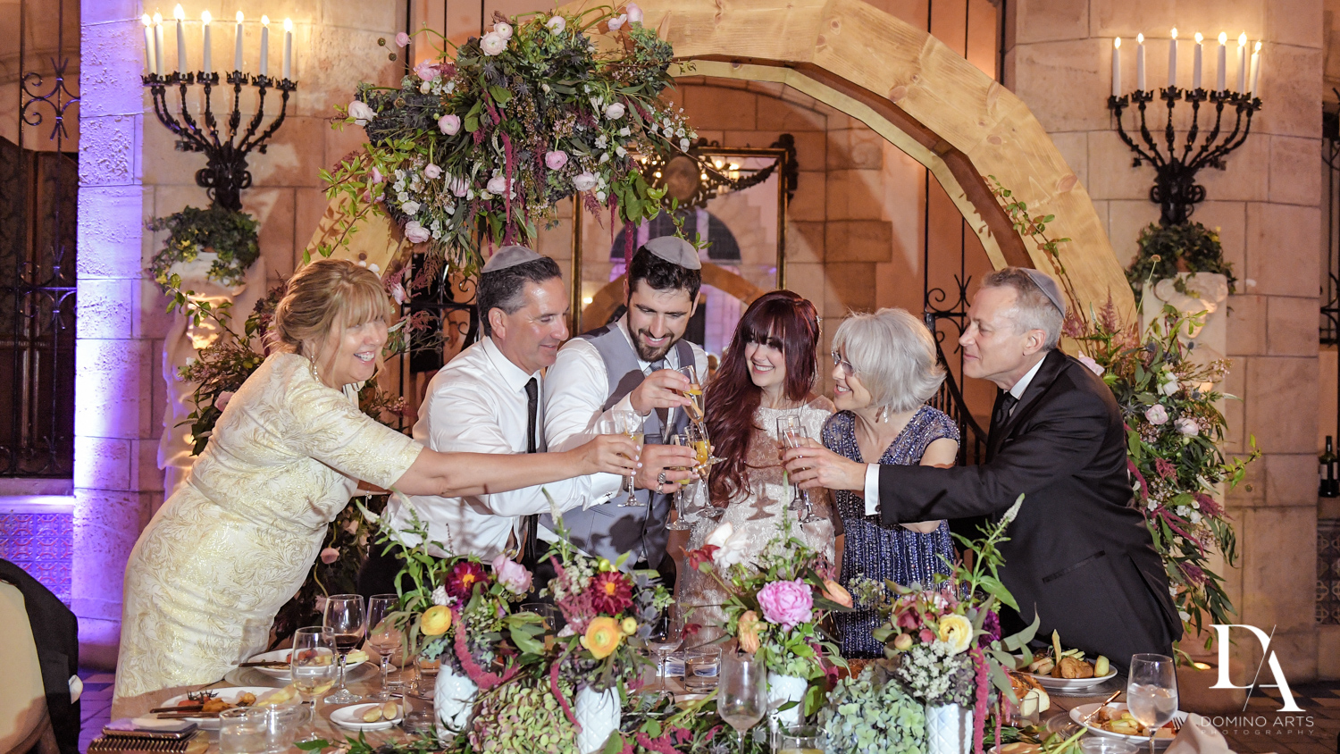 toast at Vintage Garden Wedding at Flagler Museum Palm Beach by Domino Arts Photography