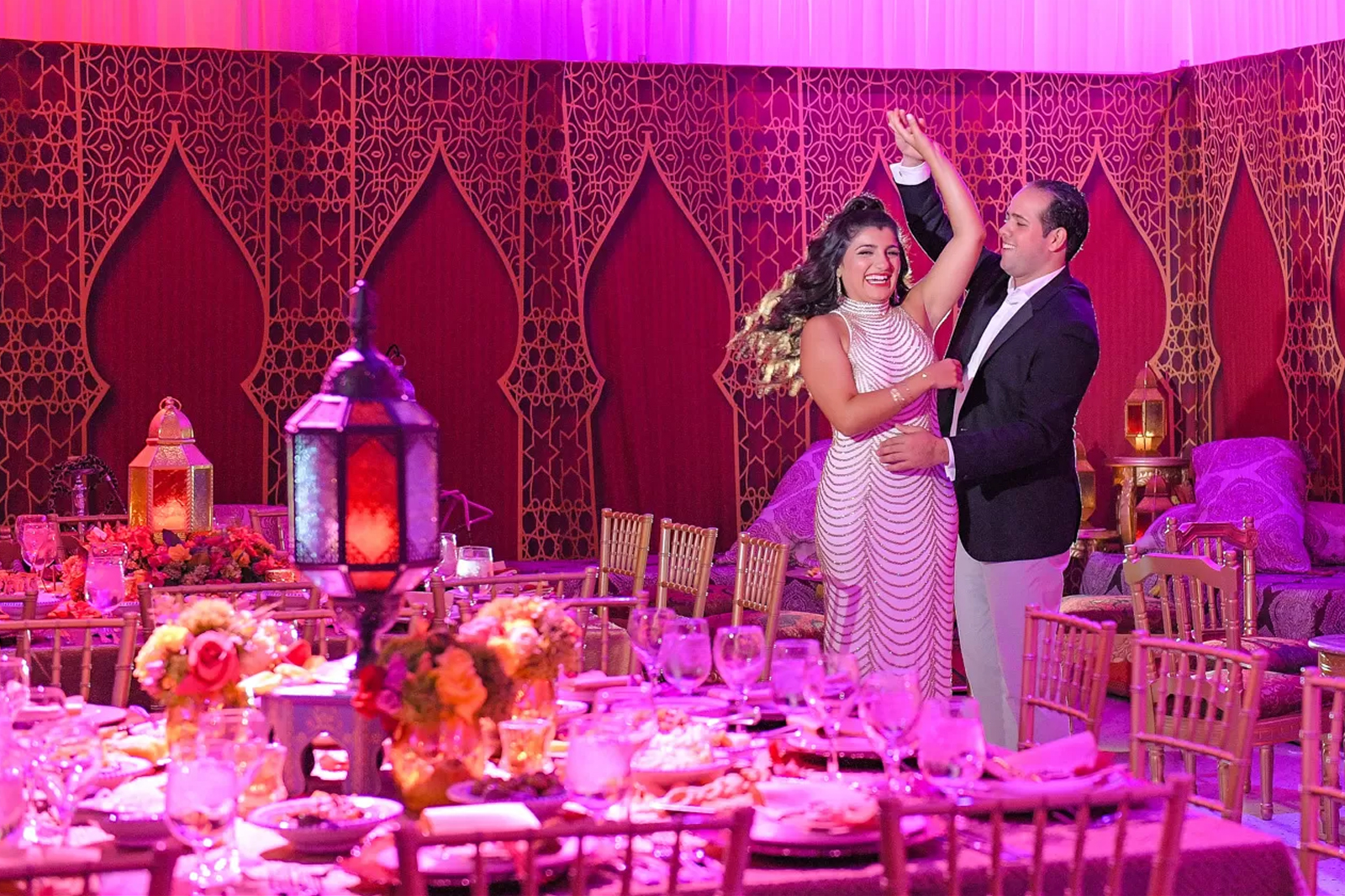 fun couple at Authentic Morrocan Jewish Henna Party by Domino Arts Photography