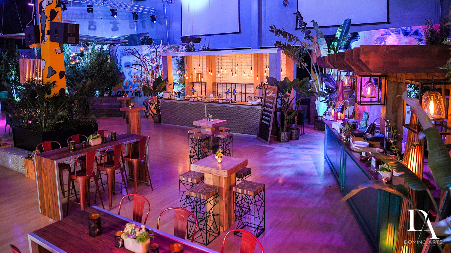 amazing decor at Urban Graffiti BNai Mitzvah with celebrity Shaq at Xtreme Action Park by Domino Arts Photography