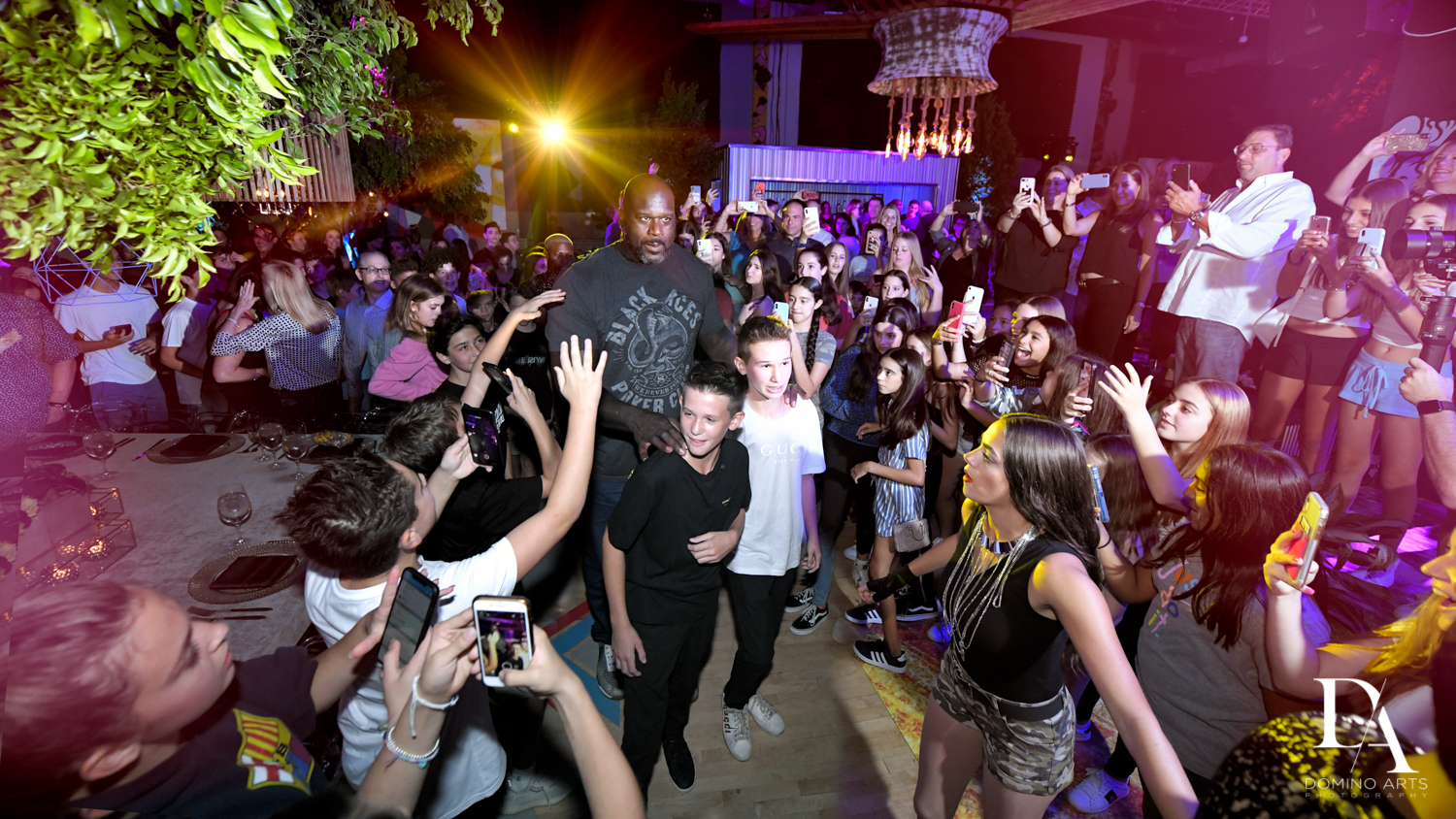Shaquille O Neal at Urban Graffiti BNai Mitzvah with celebrity Shaq at Xtreme Action Park by Domino Arts Photography