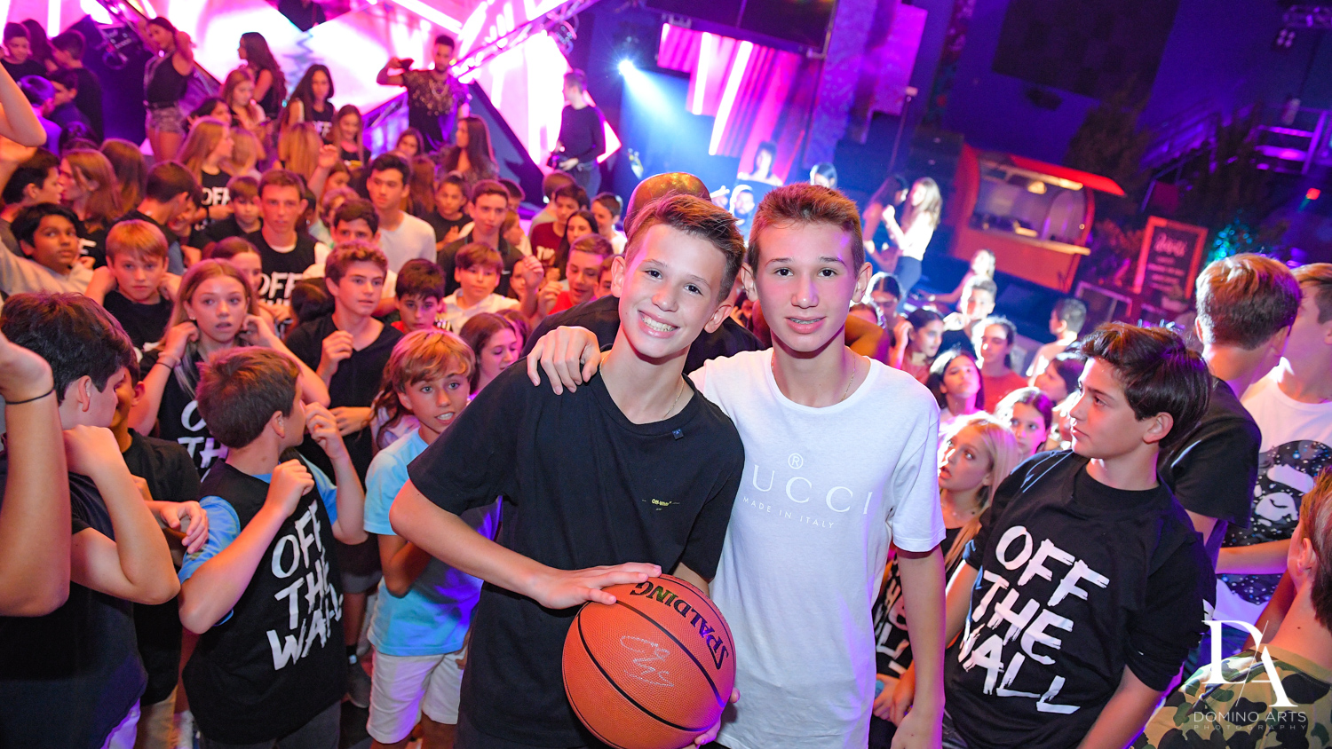 basketball theme at Urban Graffiti BNai Mitzvah with celebrity Shaq at Xtreme Action Park by Domino Arts Photography