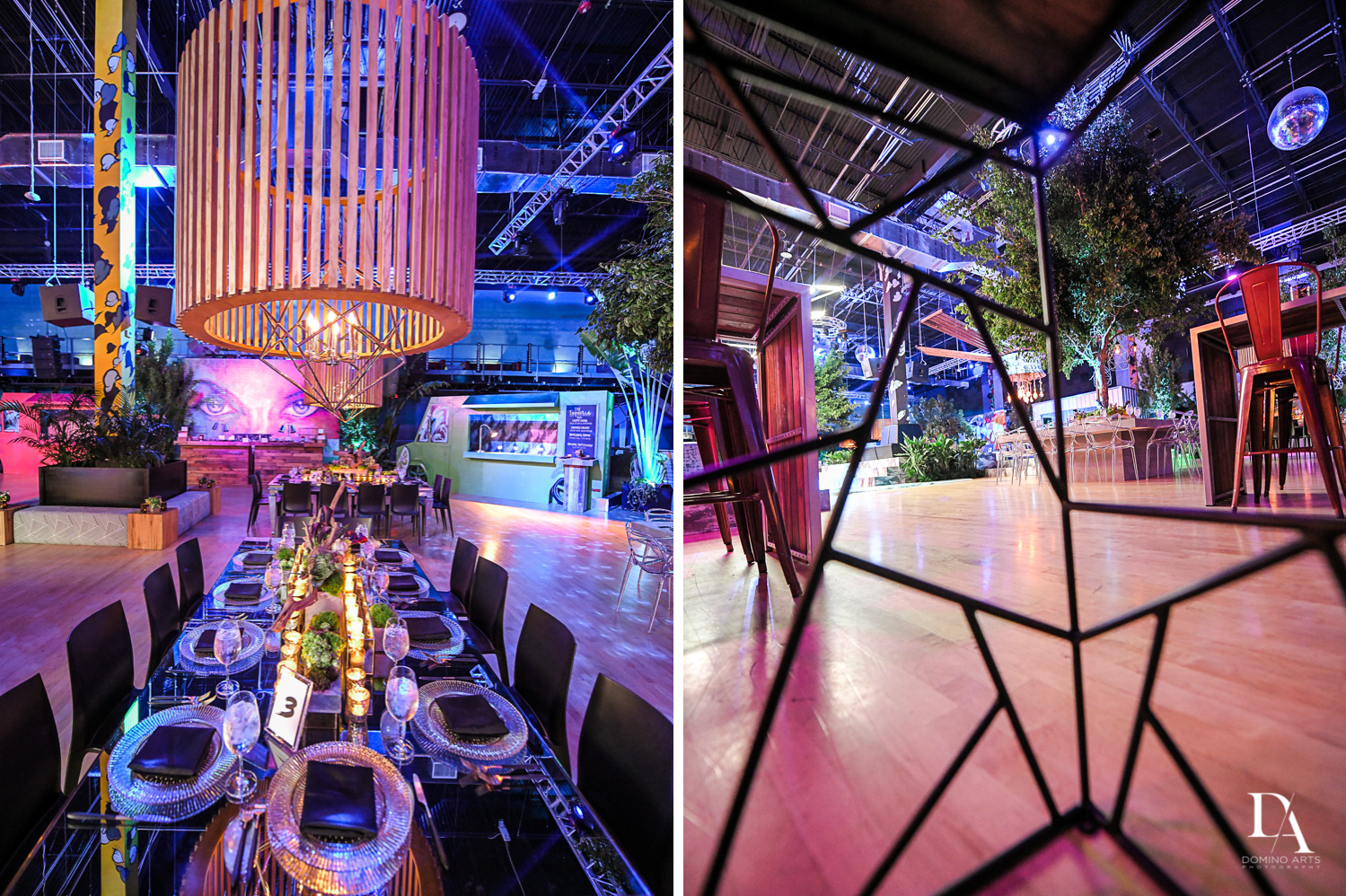 beautiful colorful decor at Urban Graffiti BNai Mitzvah with celebrity Shaq at Xtreme Action Park by Domino Arts Photography