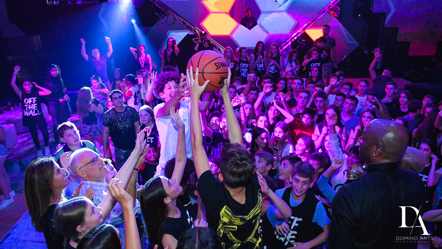 fun party at Urban Graffiti BNai Mitzvah with celebrity Shaq at Xtreme Action Park by Domino Arts Photography