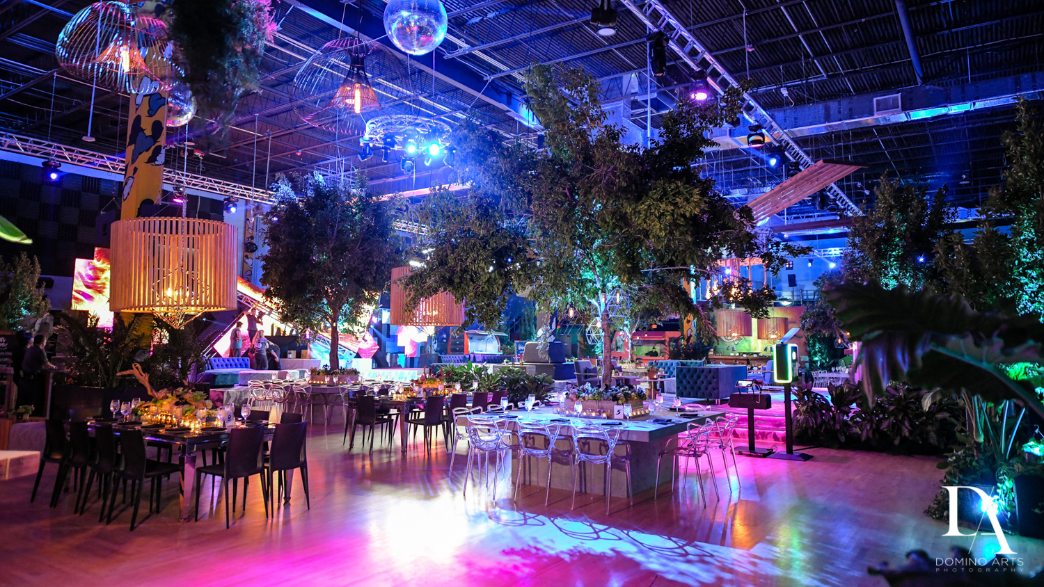 best mitzvah decor at Urban Graffiti BNai Mitzvah with celebrity Shaq at Xtreme Action Park by Domino Arts Photography