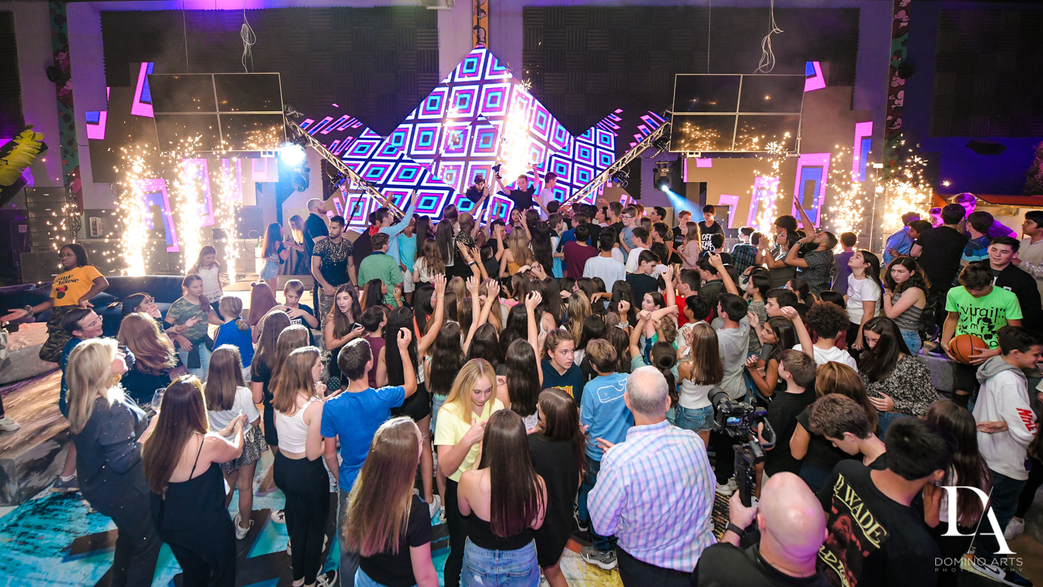 best party venue at Urban Graffiti BNai Mitzvah with celebrity Shaq at Xtreme Action Park by Domino Arts Photography