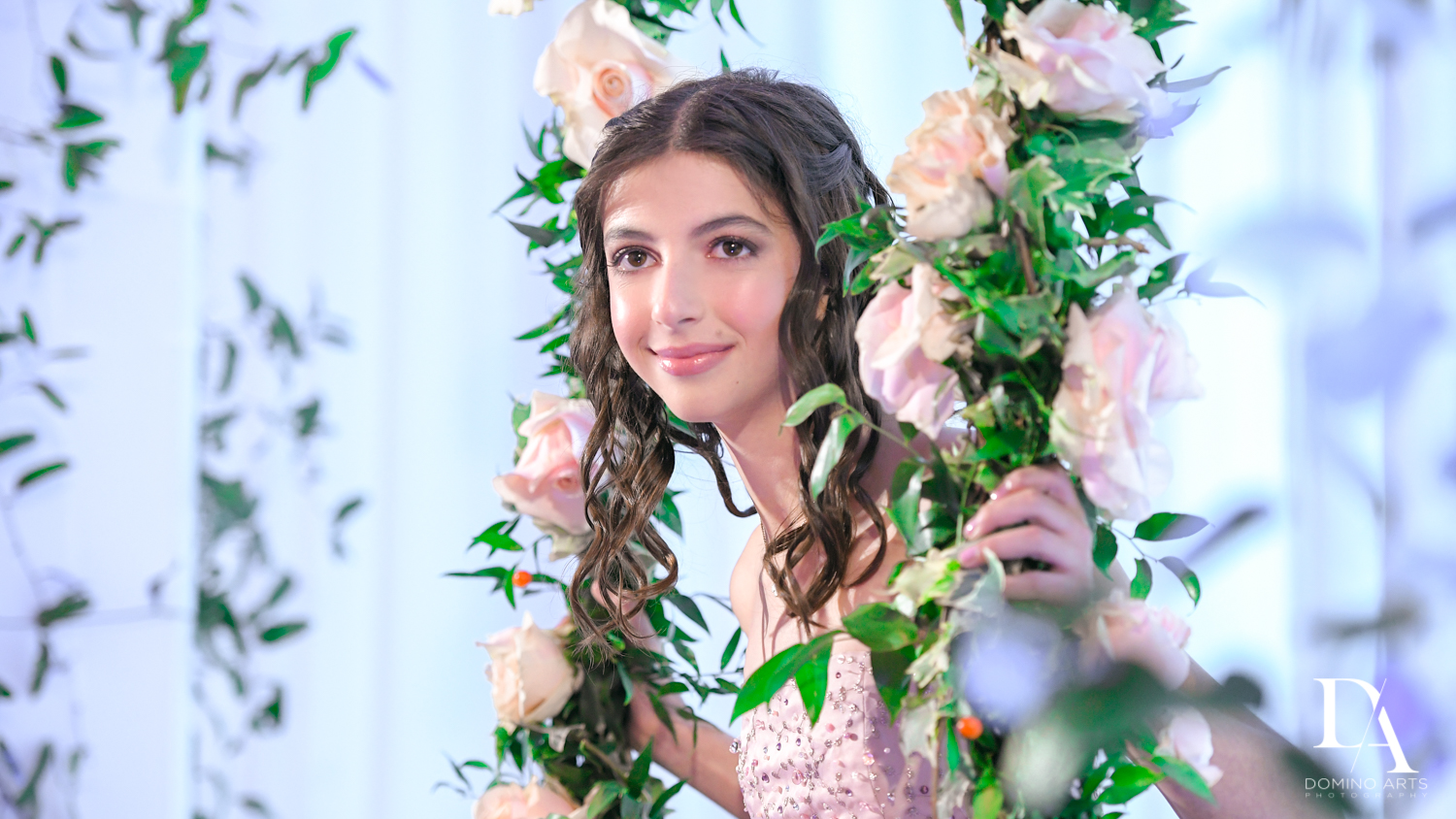 Portrait at Masquerade Ball Bat Mitzvah at Ritz Carlton Fort Lauderdale by Domino Arts Photography