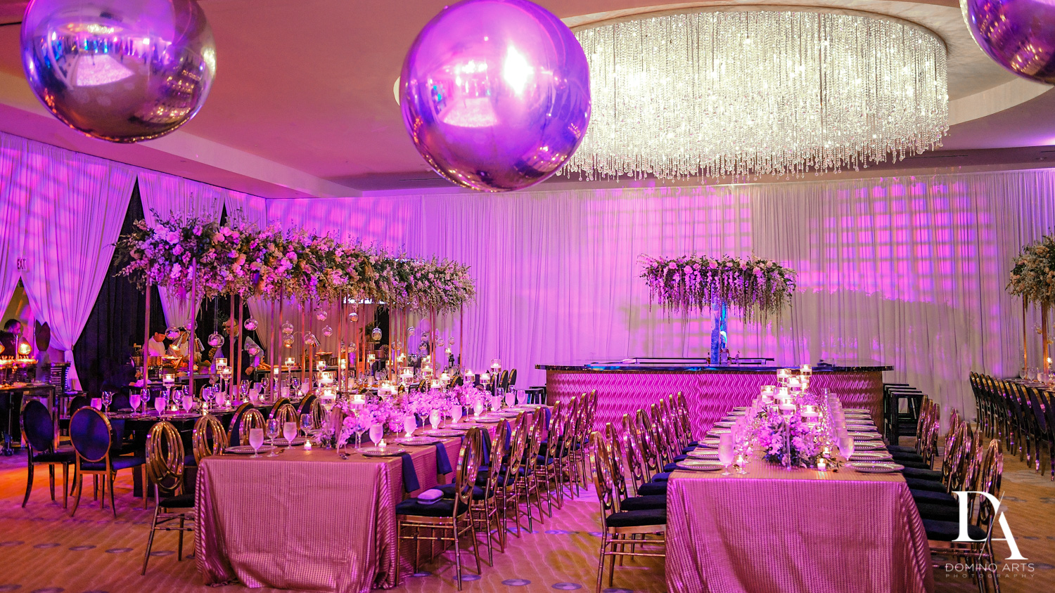 luxury decor at Masquerade Ball Bat Mitzvah at Ritz Carlton Fort Lauderdale by Domino Arts Photography