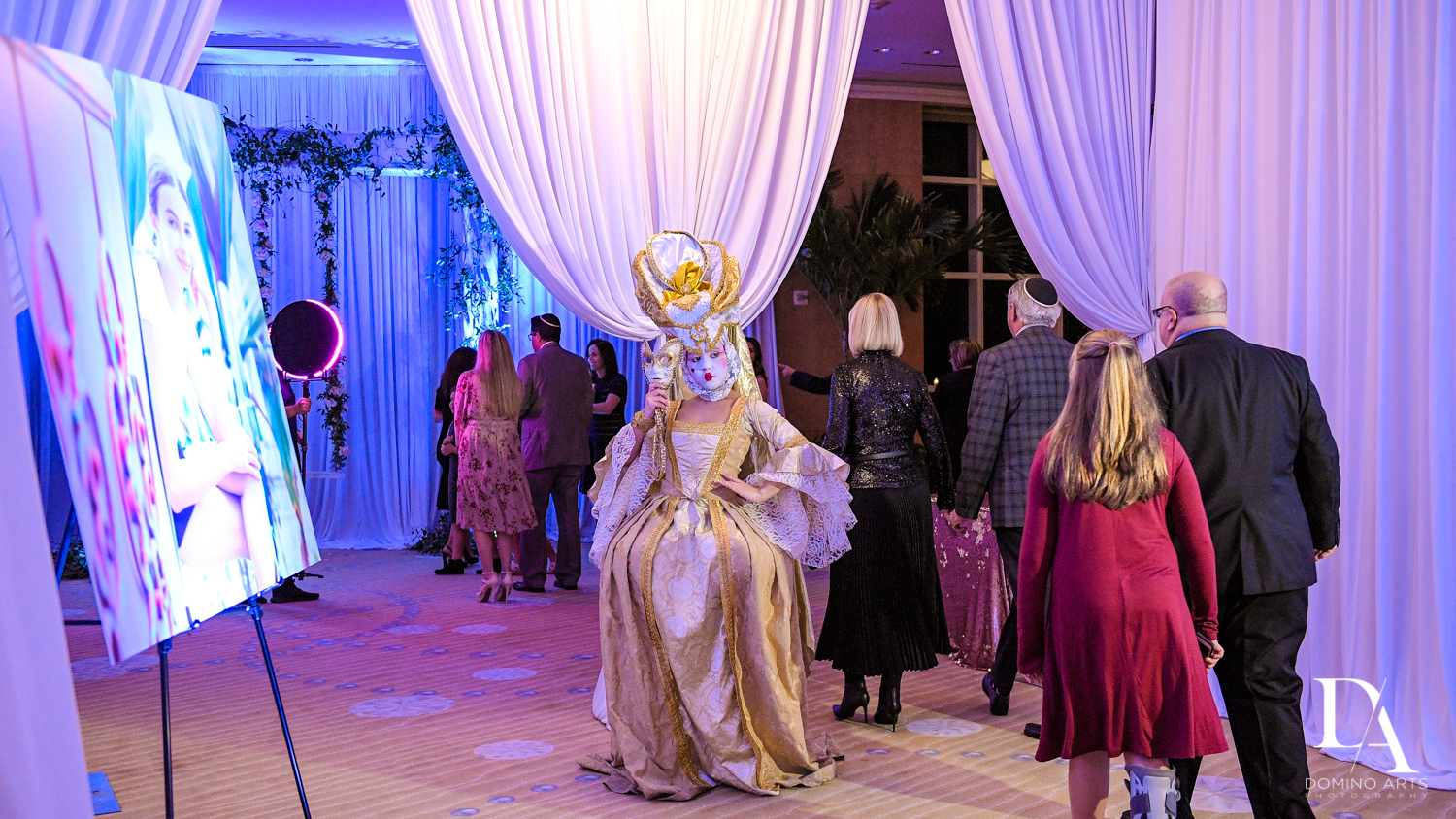 models at Masquerade Ball Bat Mitzvah at Ritz Carlton Fort Lauderdale by Domino Arts Photography