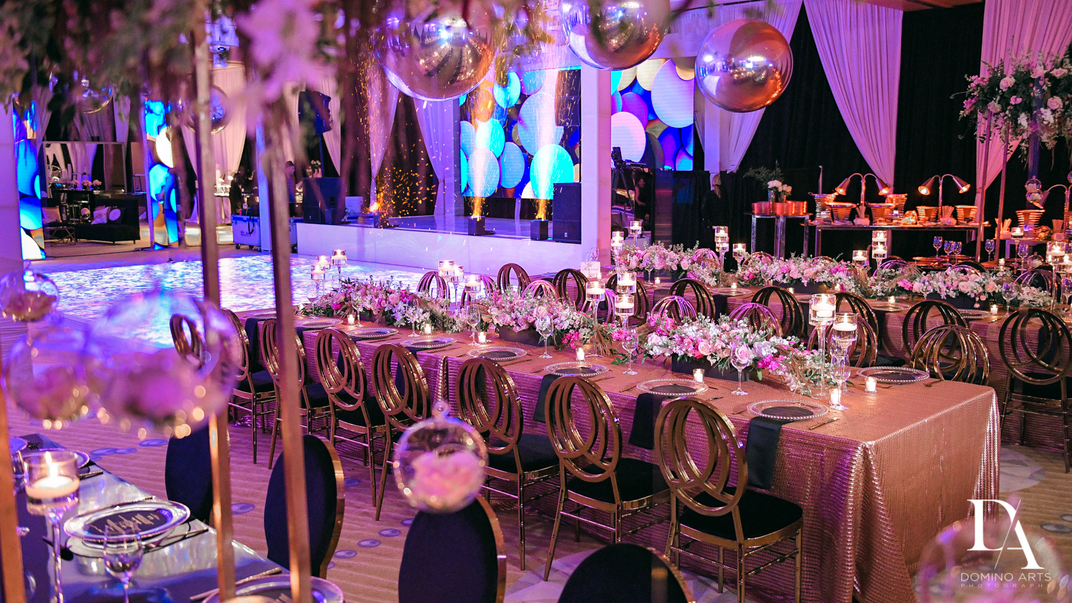 rose gold at Masquerade Ball Bat Mitzvah at Ritz Carlton Fort Lauderdale by Domino Arts Photography