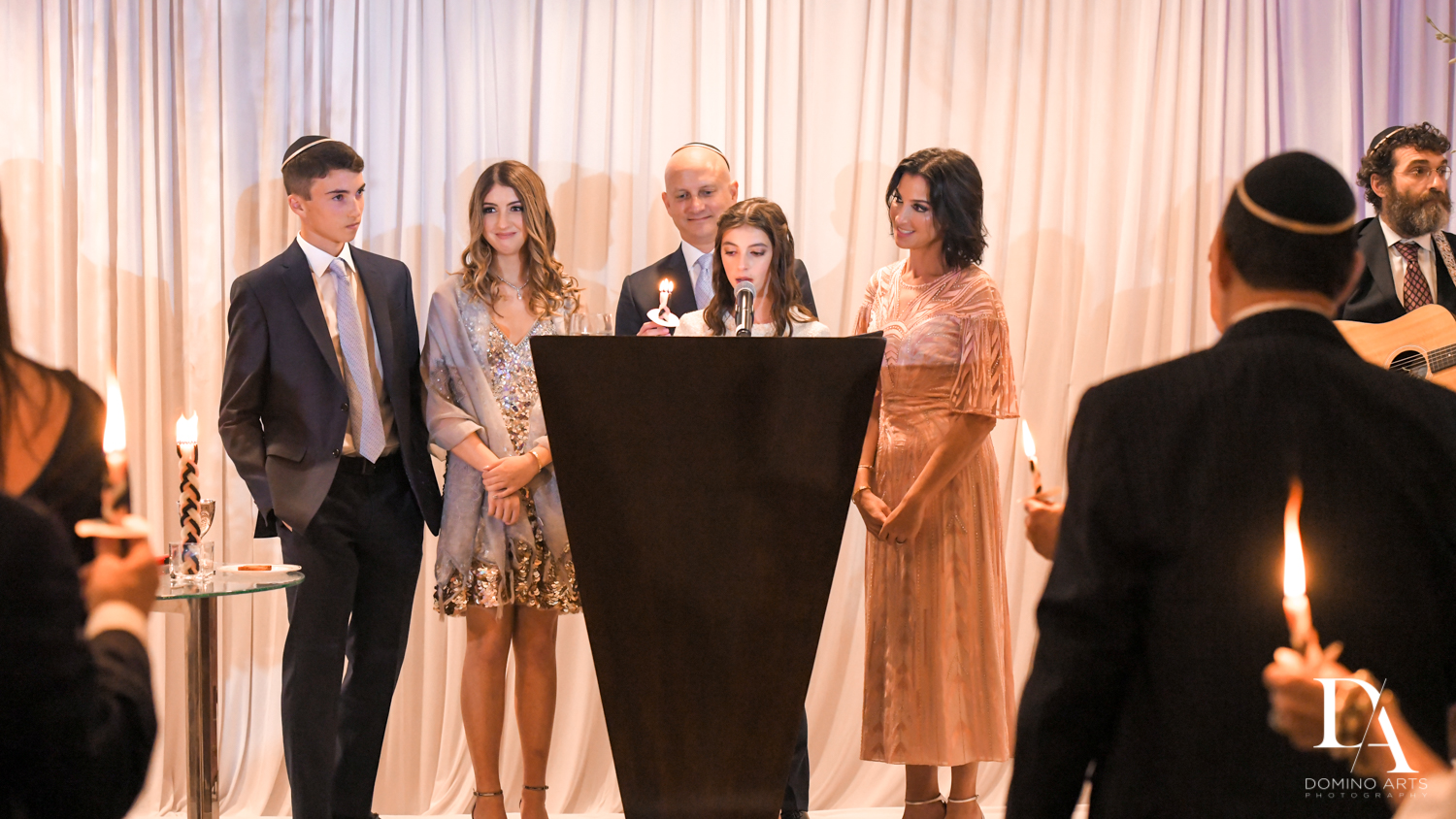 reading Torah at Masquerade Ball Bat Mitzvah at Ritz Carlton Fort Lauderdale by Domino Arts Photography