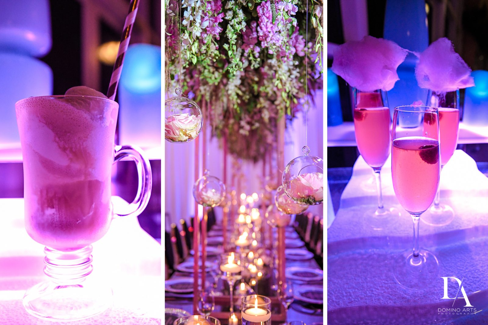 cotton candy cocktail at Masquerade Ball Bat Mitzvah at Ritz Carlton Fort Lauderdale by Domino Arts Photography