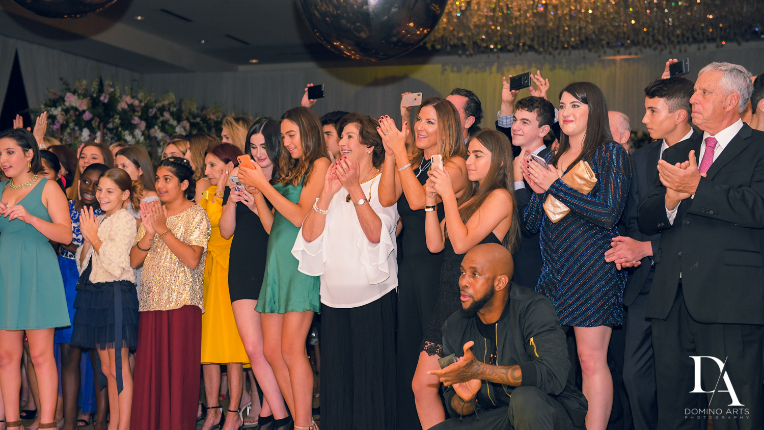 party pics at Masquerade Ball Bat Mitzvah at Ritz Carlton Fort Lauderdale by Domino Arts Photography