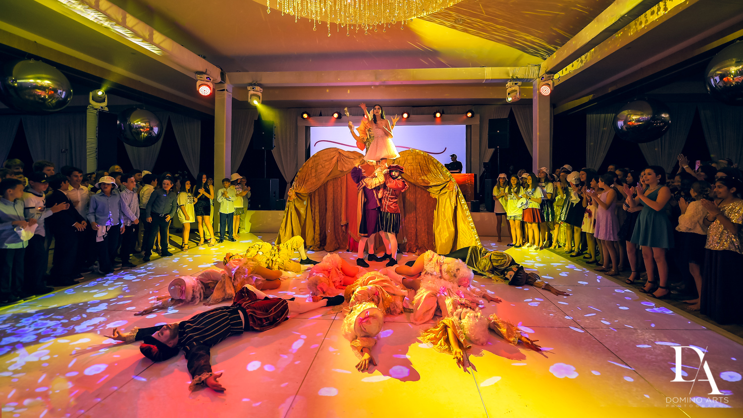 theatrical performance at Masquerade Ball Bat Mitzvah at Ritz Carlton Fort Lauderdale by Domino Arts Photography