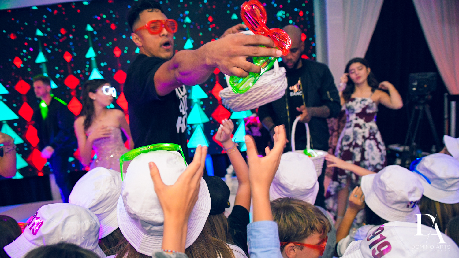 Mitzvah giveaways at Masquerade Ball Bat Mitzvah at Ritz Carlton Fort Lauderdale by Domino Arts Photography