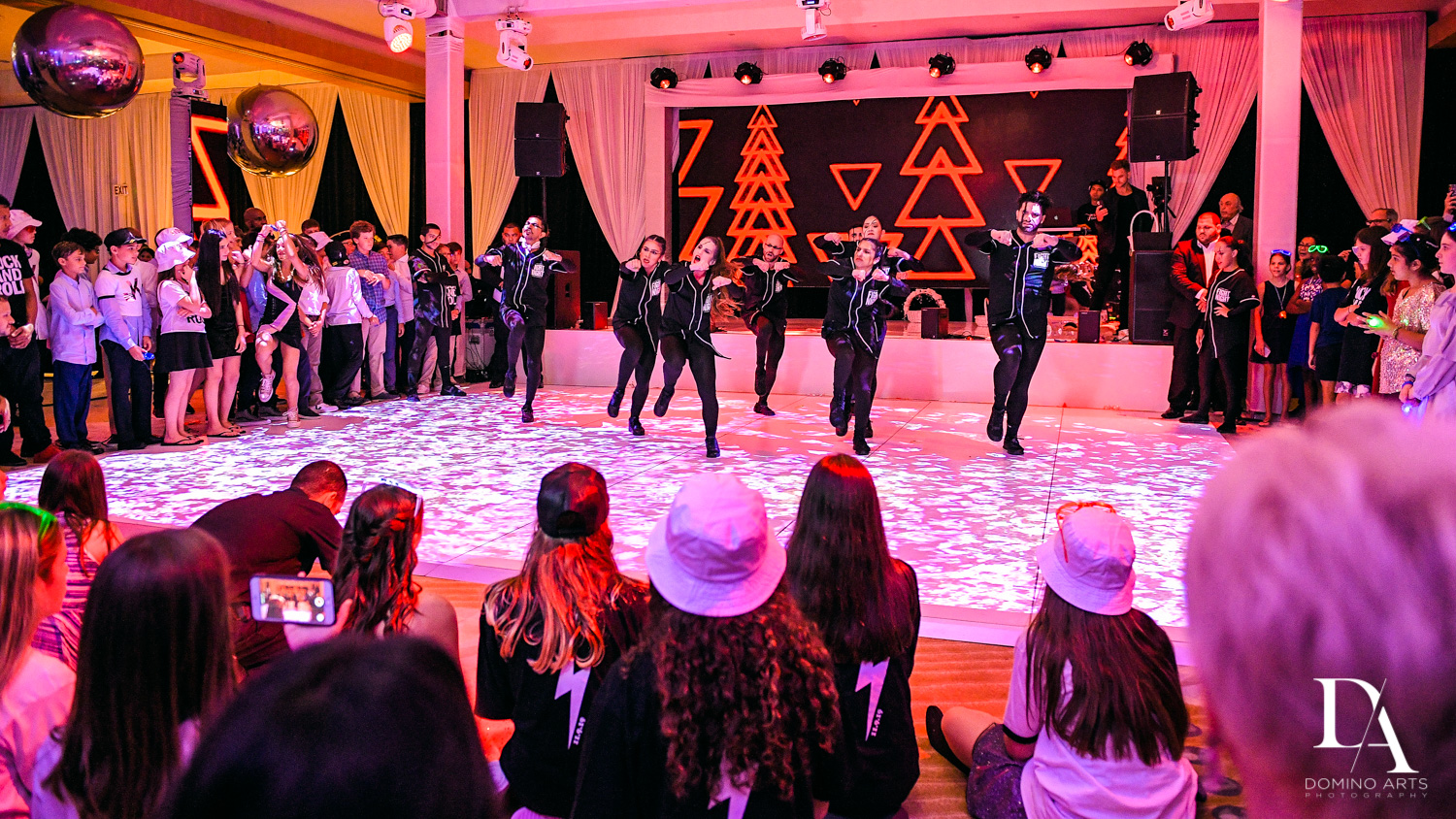 Dancers at Masquerade Ball Bat Mitzvah at Ritz Carlton Fort Lauderdale by Domino Arts Photography