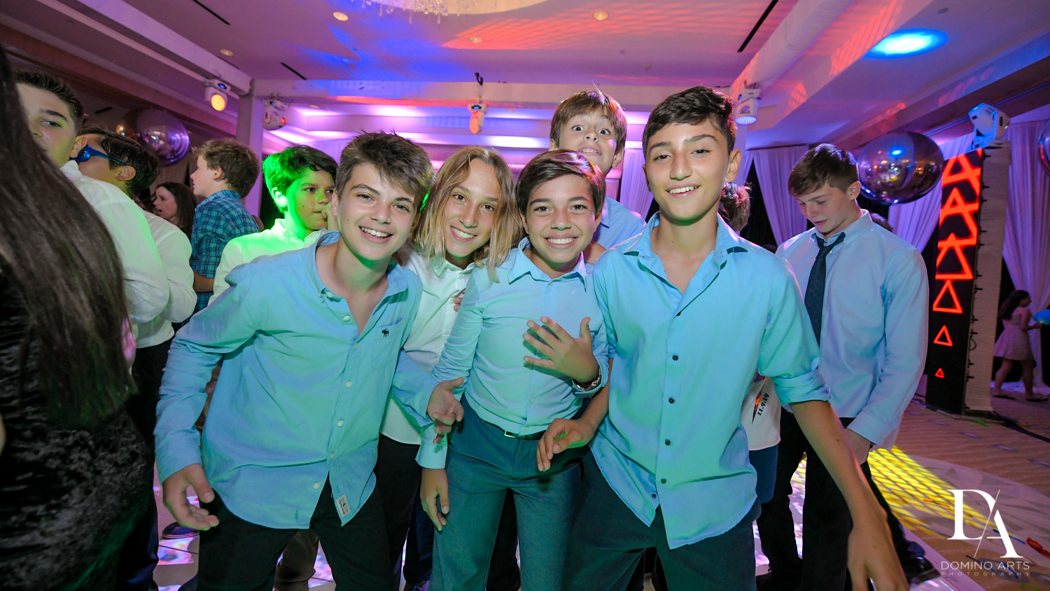 kids at Masquerade Ball Bat Mitzvah at Ritz Carlton Fort Lauderdale by Domino Arts Photography
