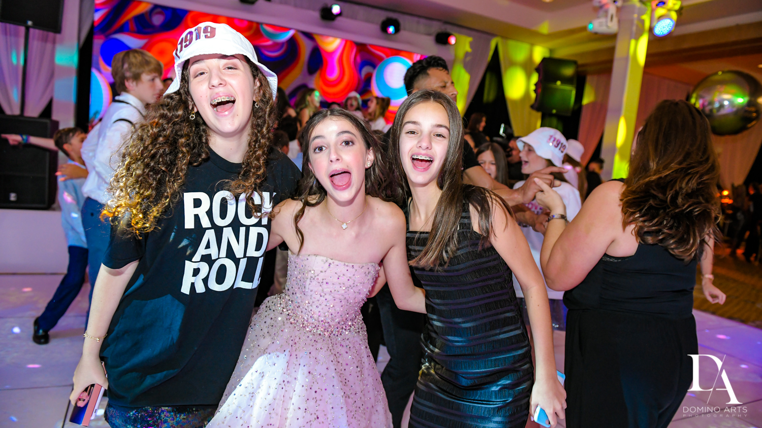 kids fun at Masquerade Ball Bat Mitzvah at Ritz Carlton Fort Lauderdale by Domino Arts Photography
