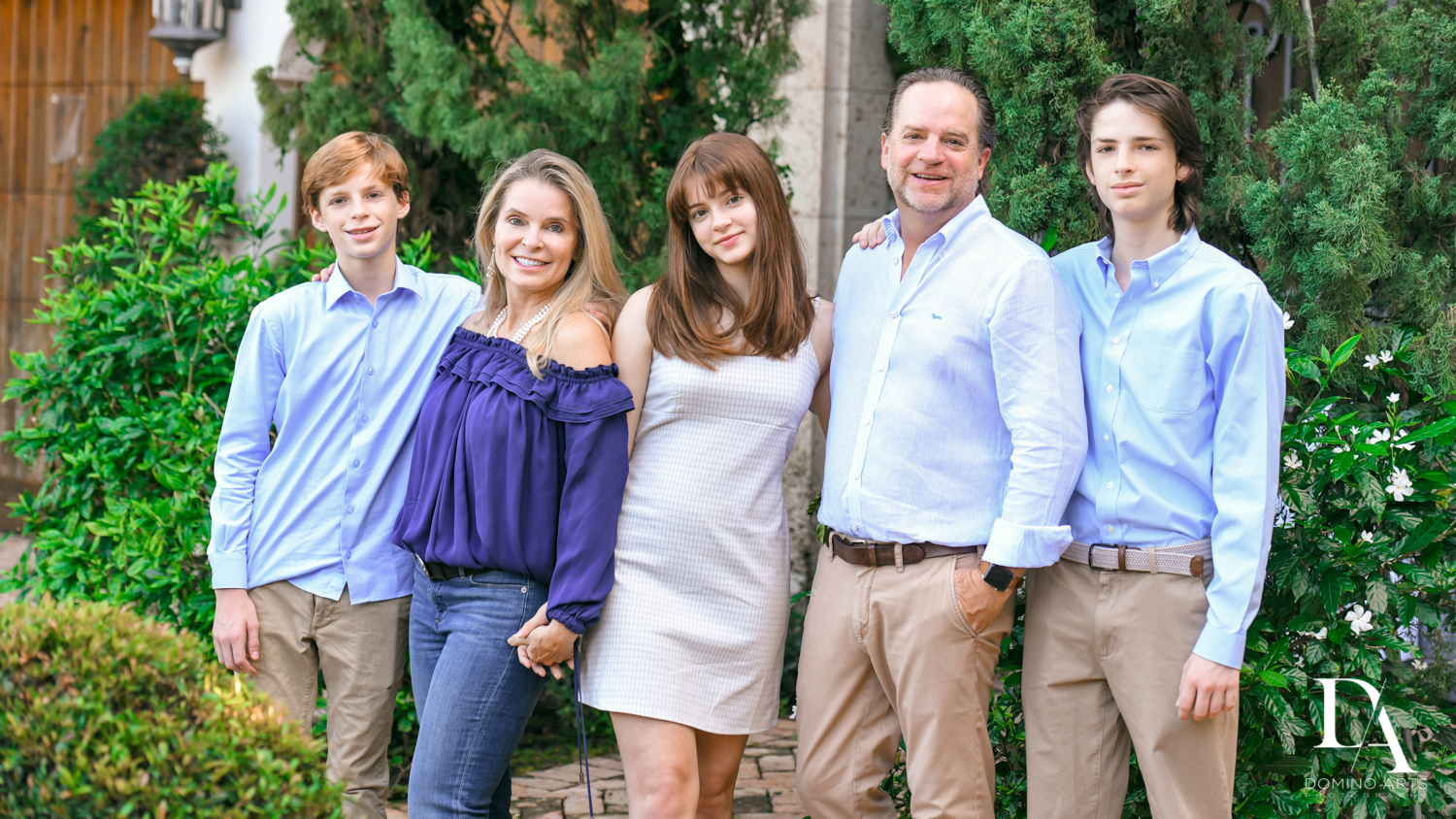 Family portrait Bat Mitzvah Pre Session in Miami Beach by Domino Arts Photography