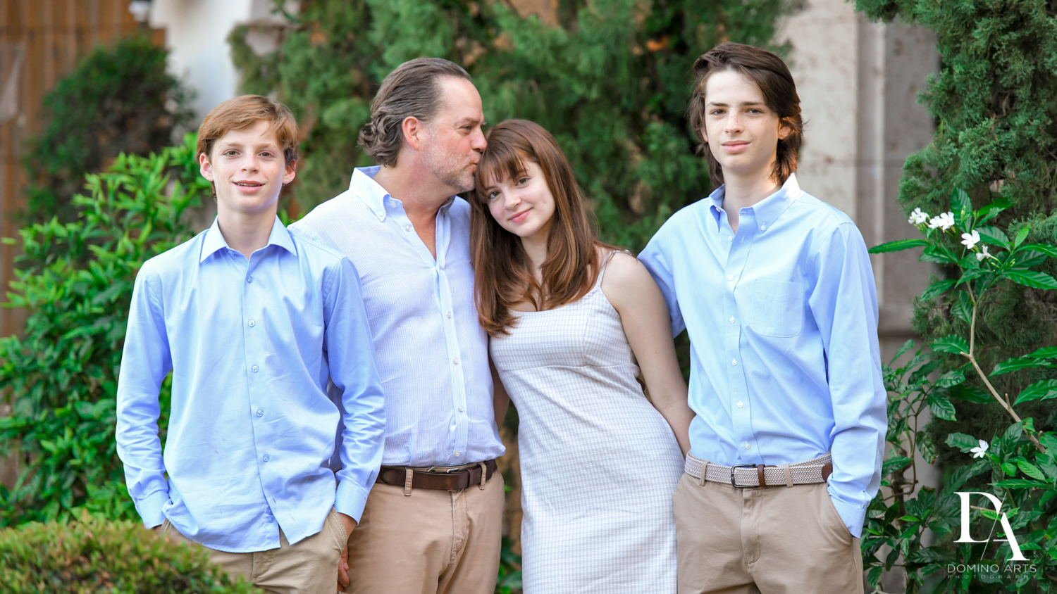 Family at Bat Mitzvah Pre Session in Miami Beach by Domino Arts Photography