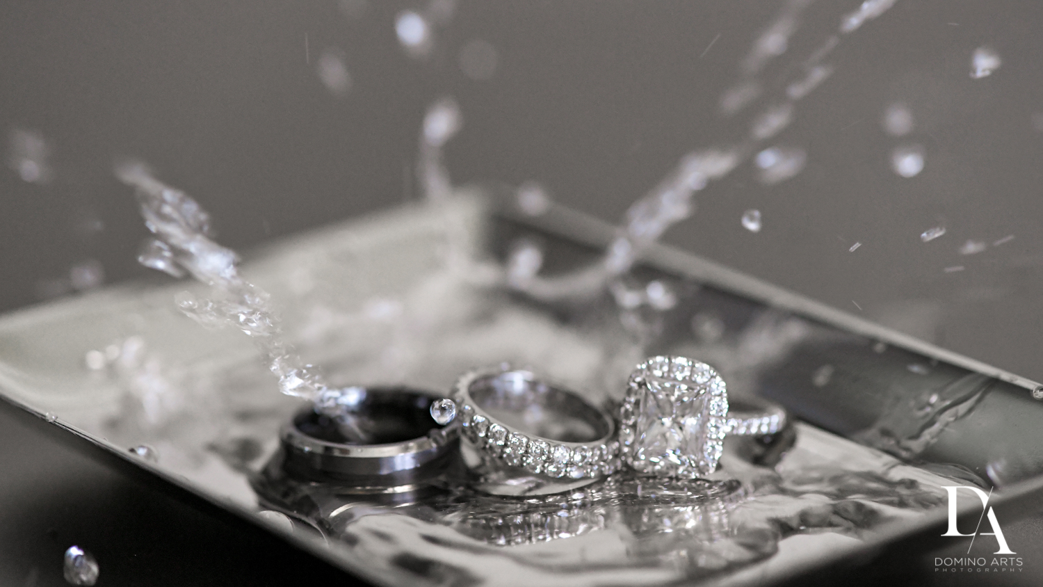 Ring shot at Extravagant Wedding at The Breakers Palm Beach by Domino Arts Photography