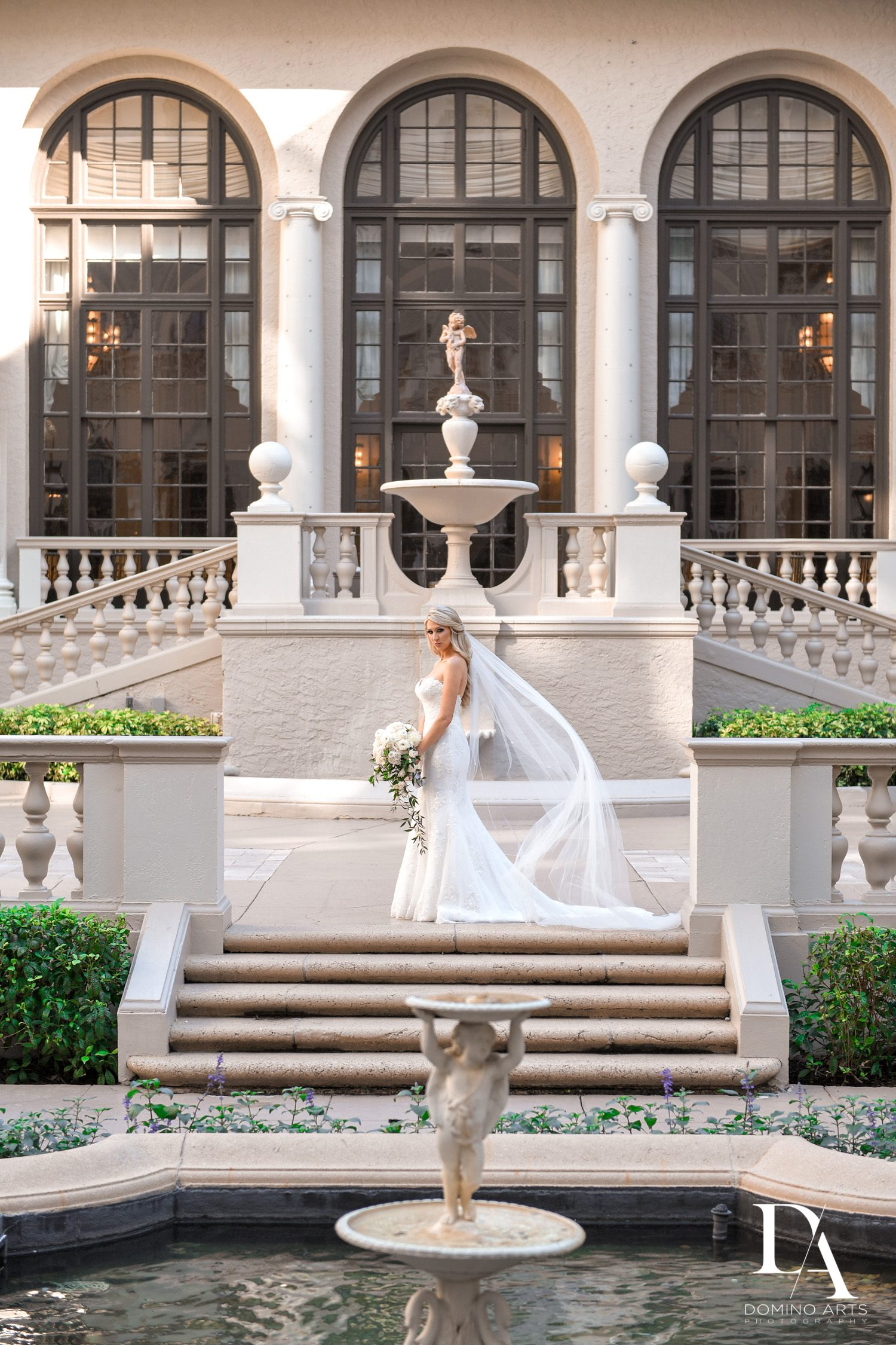 bride photo at Extravagant Wedding at The Breakers Palm Beach by Domino Arts Photography
