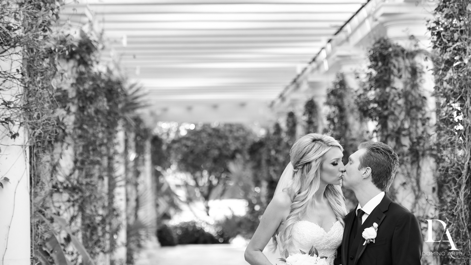 B&W photos at Extravagant Wedding at The Breakers Palm Beach by Domino Arts Photography