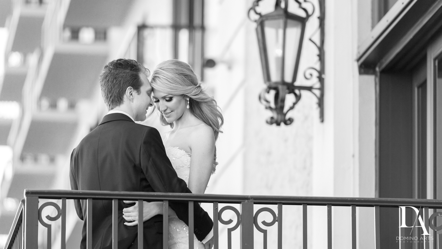 romantic B&W at Extravagant Wedding at The Breakers Palm Beach by Domino Arts Photography