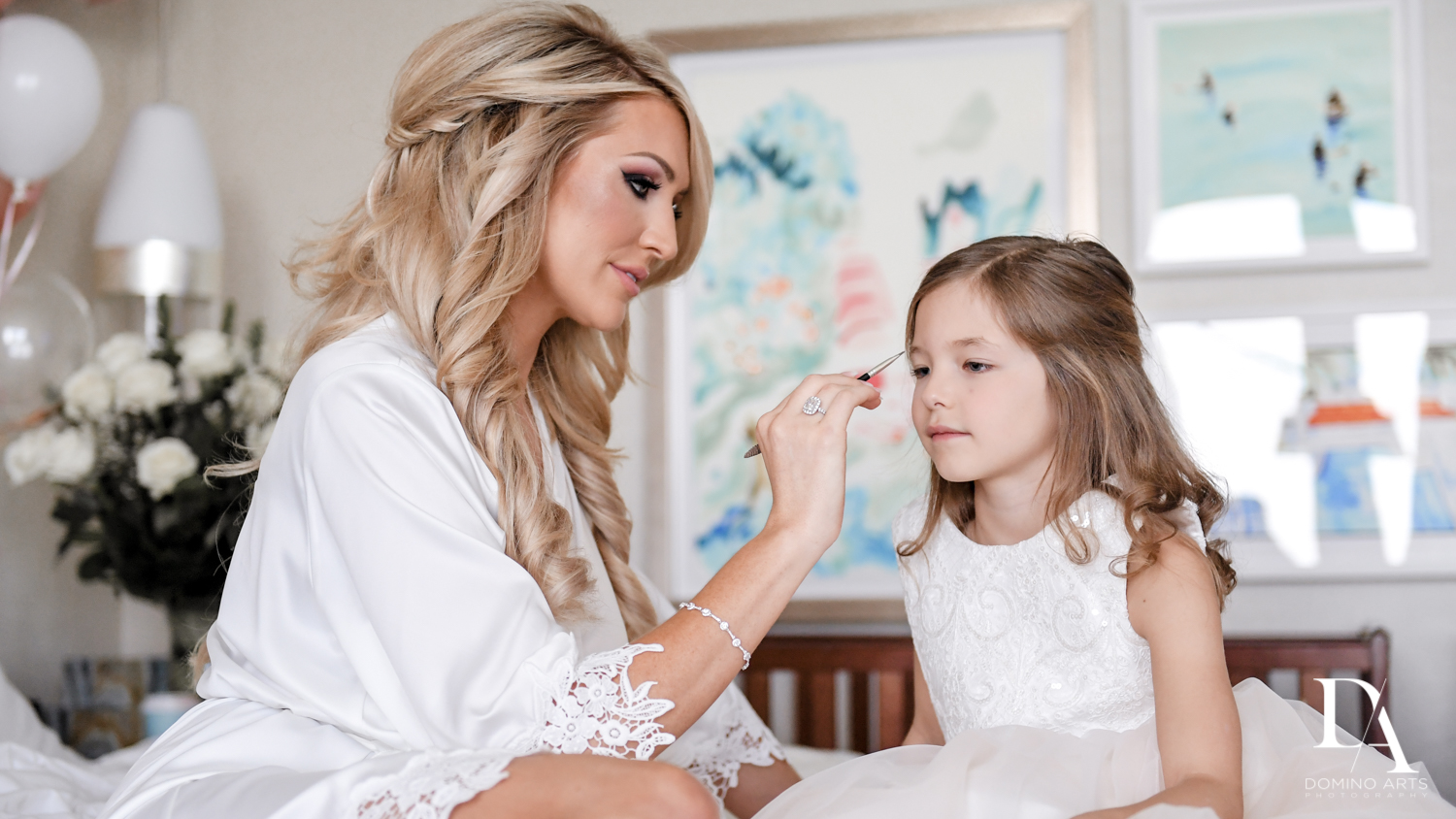 mother daughter at Extravagant Wedding at The Breakers Palm Beach by Domino Arts Photography