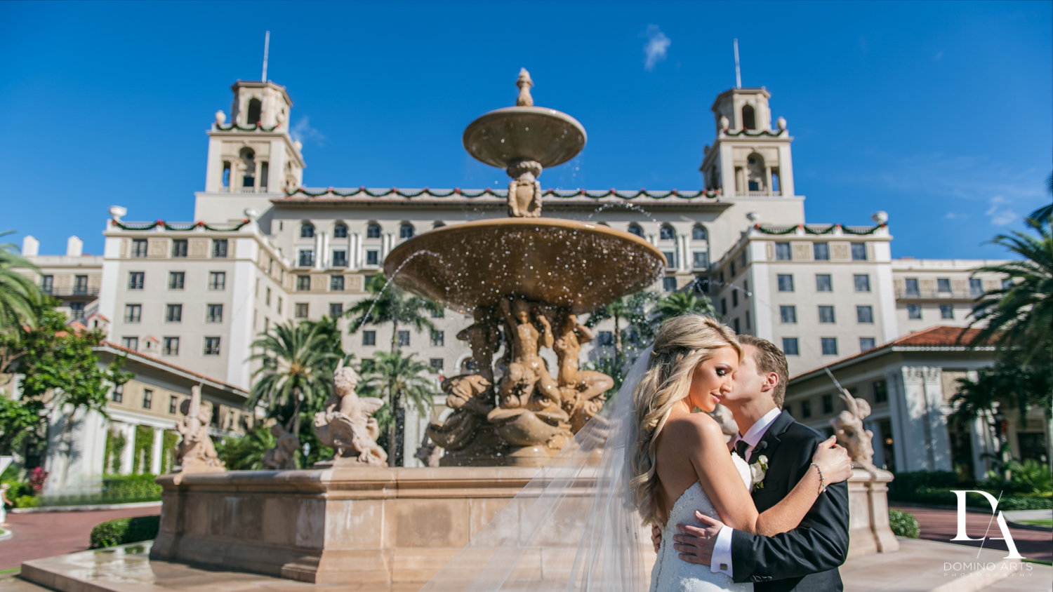 classic portrait at Extravagant Wedding at The Breakers Palm Beach by Domino Arts Photography