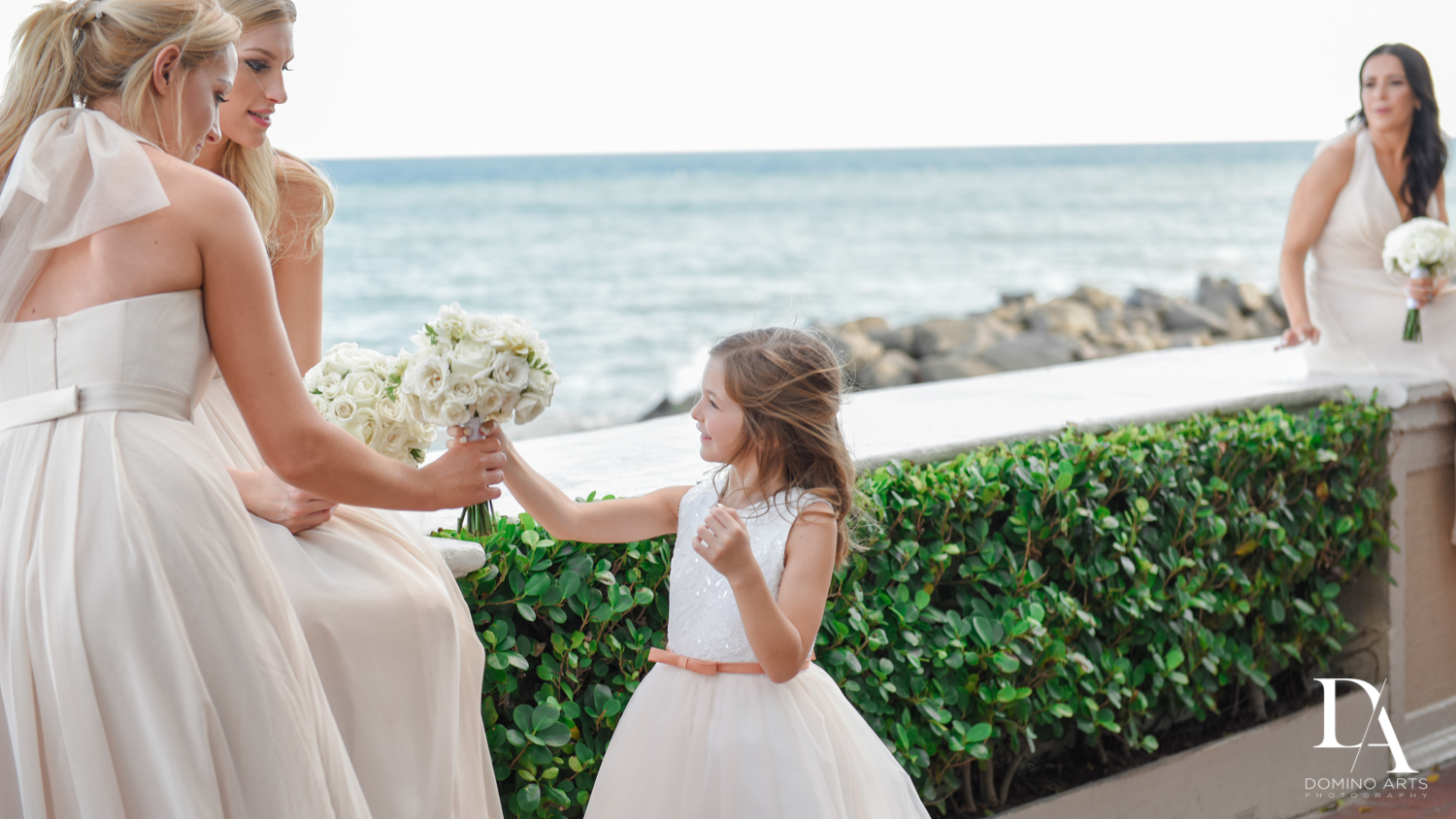 flower girl at Extravagant Wedding at The Breakers Palm Beach by Domino Arts Photography
