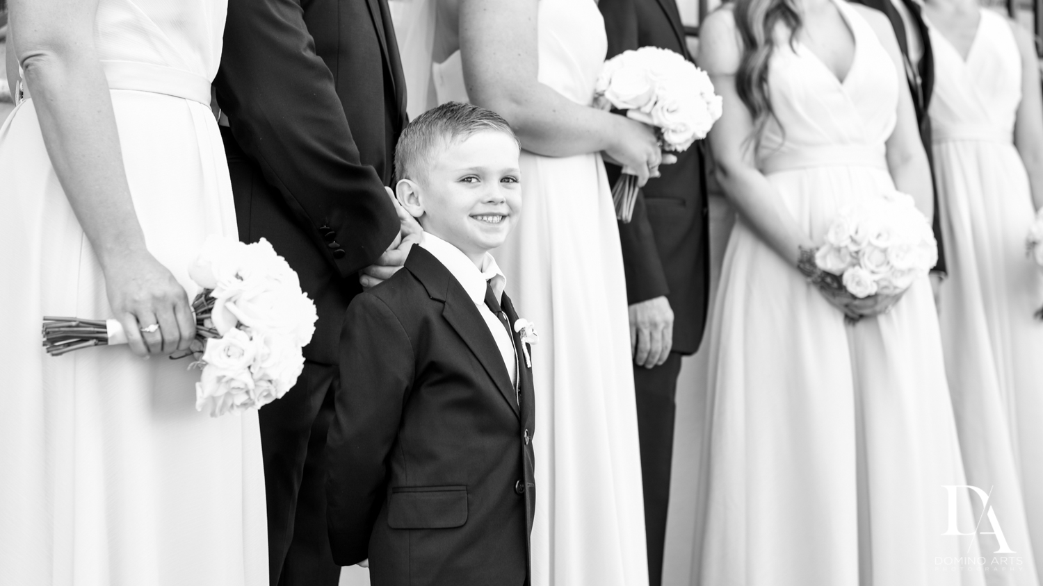 ring bearer at Extravagant Wedding at The Breakers Palm Beach by Domino Arts Photography