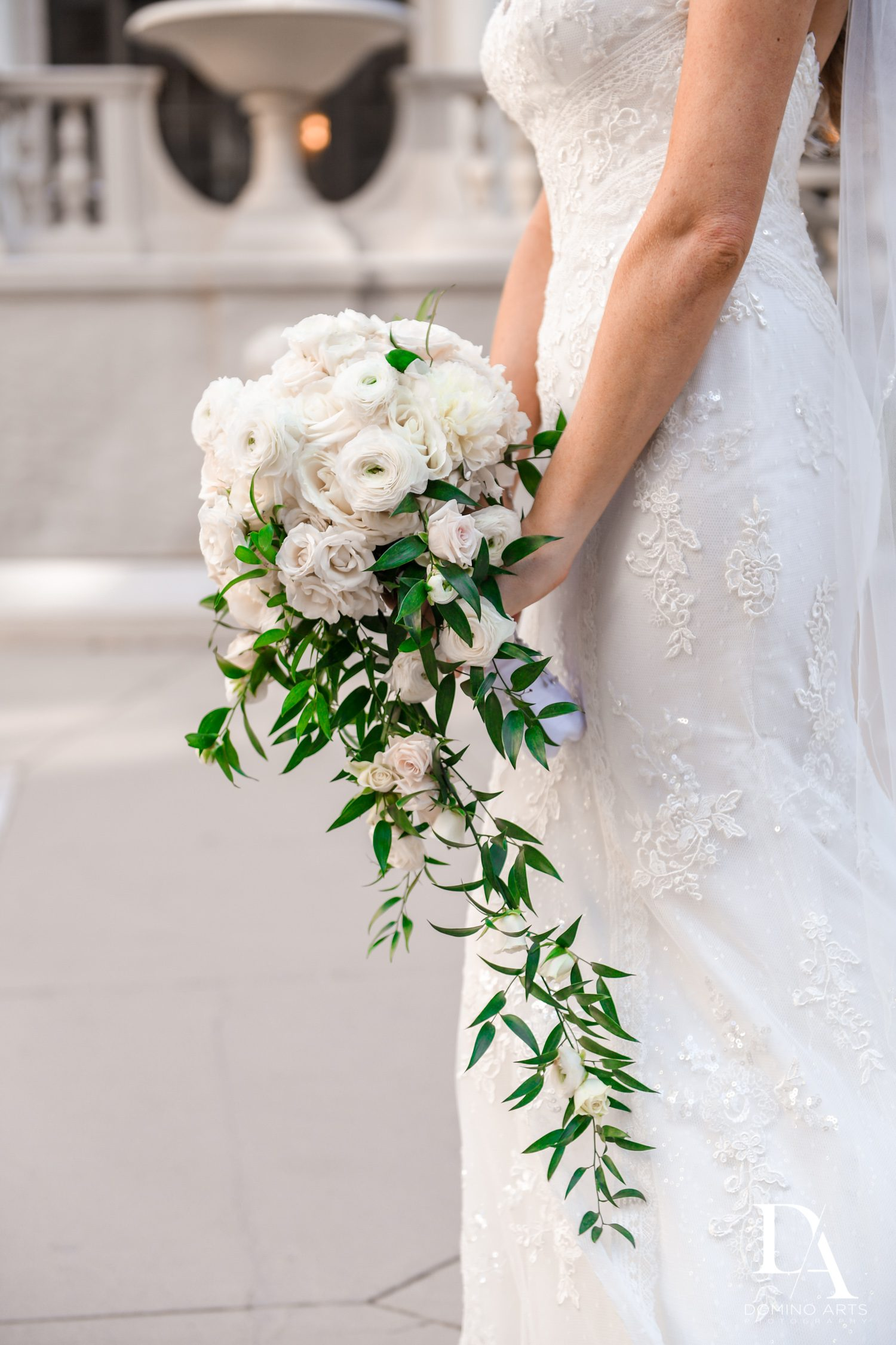 simple bouquet at Extravagant Wedding at The Breakers Palm Beach by Domino Arts Photography
